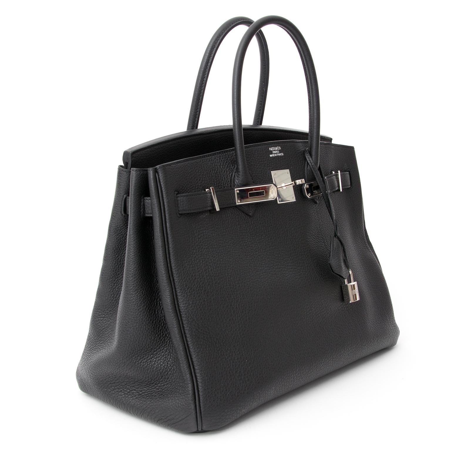... koop veilig online tweedehands Designer hermes zwarte Hermes Birkin 35  net als nieuw met stofzak en fbada62dfa5a3