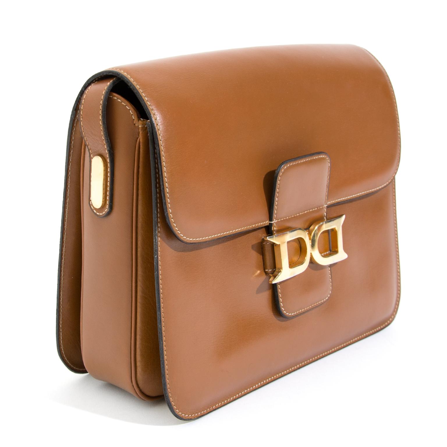 ... Delvaux Cognac Bourgogne Shoulder Bag te koop aangeboden tweedehands  uthentieke designer handtassen 50ae4b35a2d