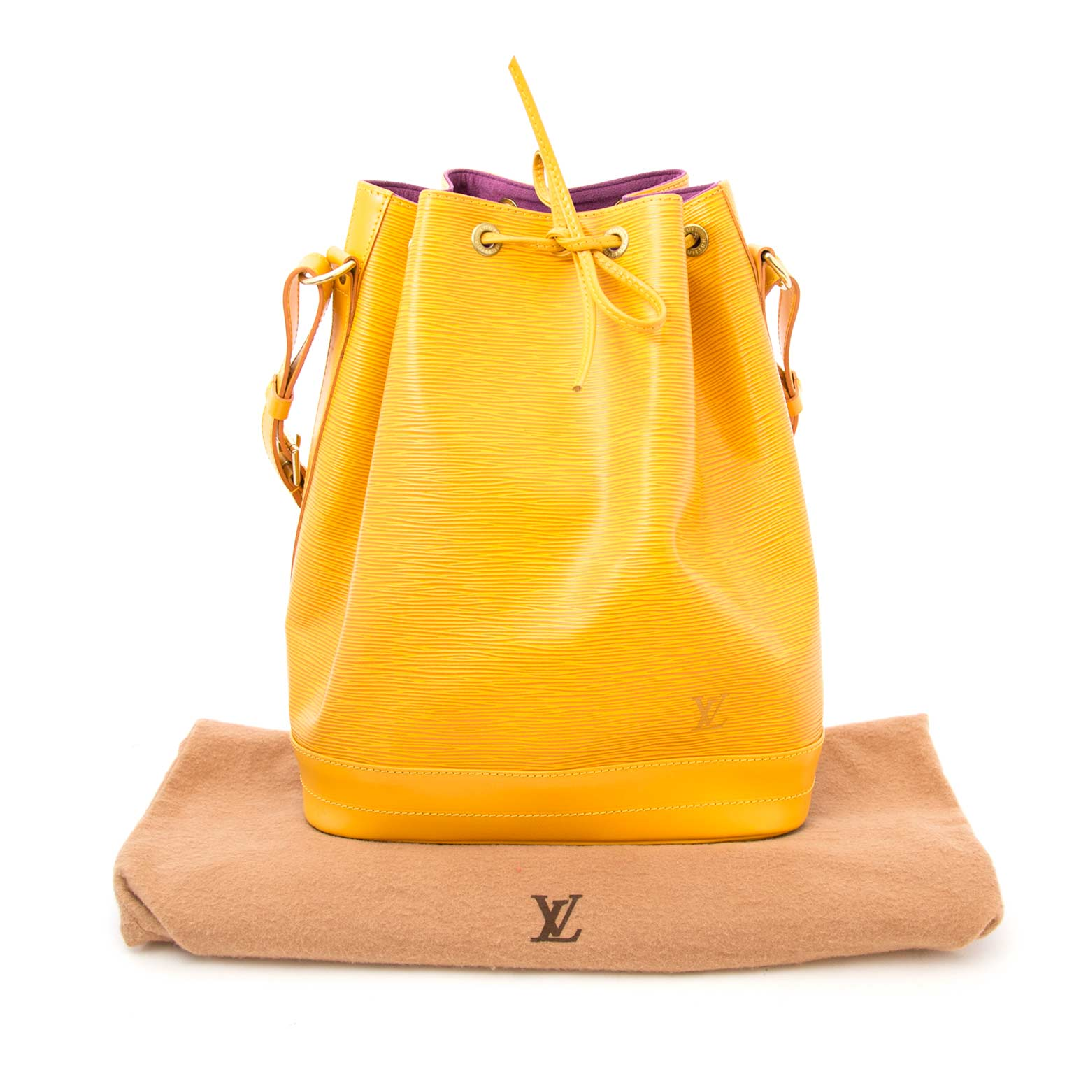 Louis Vuitton Big Noé Yellow Epi Leather Shoulder Bag