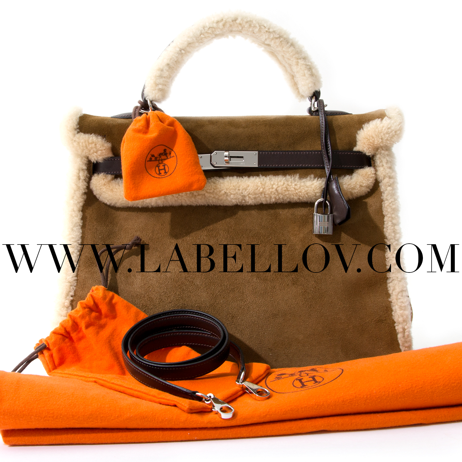 buy safe and secure 100% authentic store fresh RARE Hermes Kelly 35 Teddy Plush like new webshop labellov