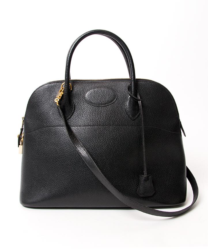 9569569948ba5a ... Hermes Bolide 35 Black Top Handle Shoulder Strap Bag GHW. acheter en  ligne neuve hermes