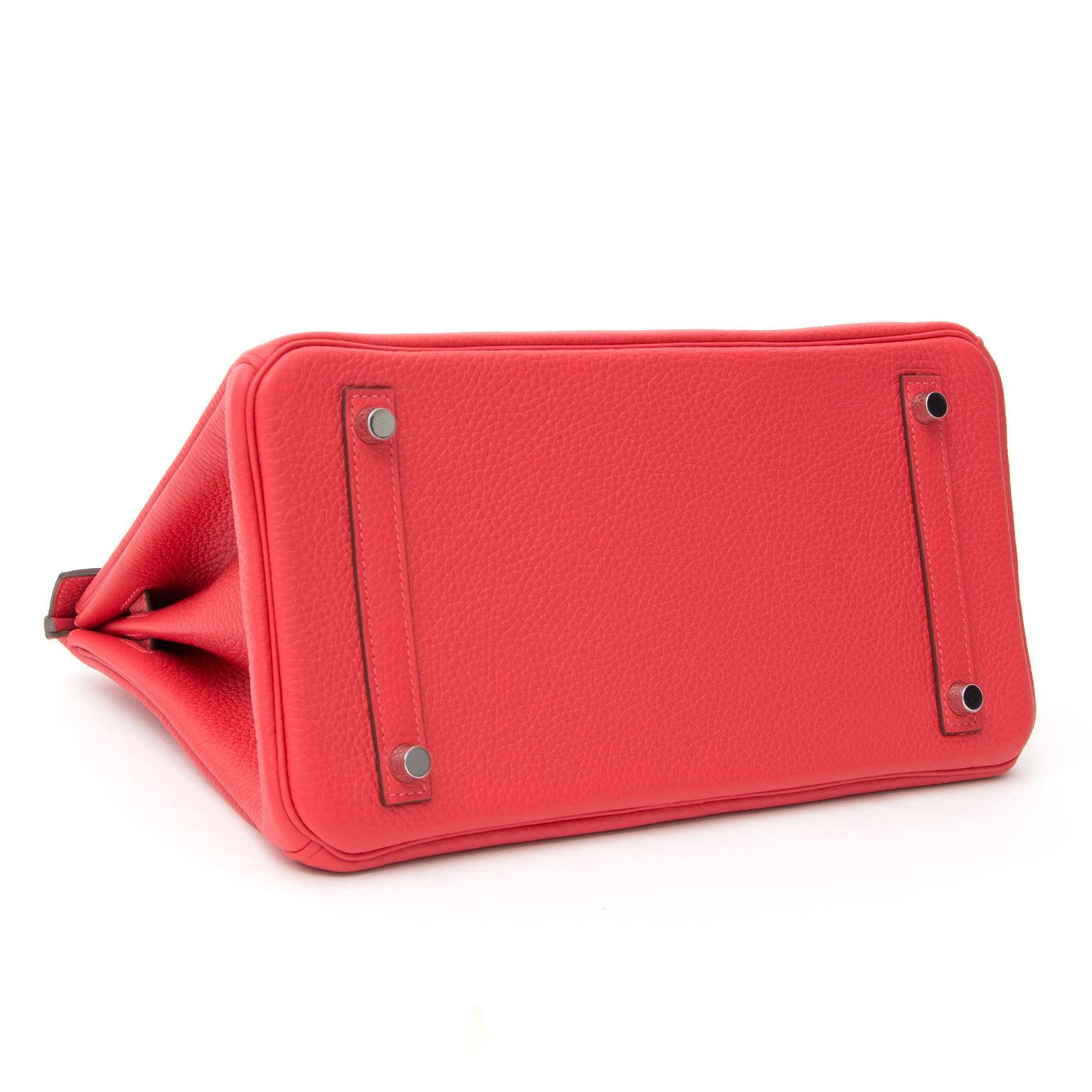BRAND NEW Hermès Birkin Bag 30 Togo Rouge Pivoine PHW Buy authentic secondhand Hermès bags at the right price at LabelLOV vintage webshop. Safe and secure online shopping. Koop authentieke tweedehands Hermès tassen aan de juiste prijs bij LabelLOV webshop