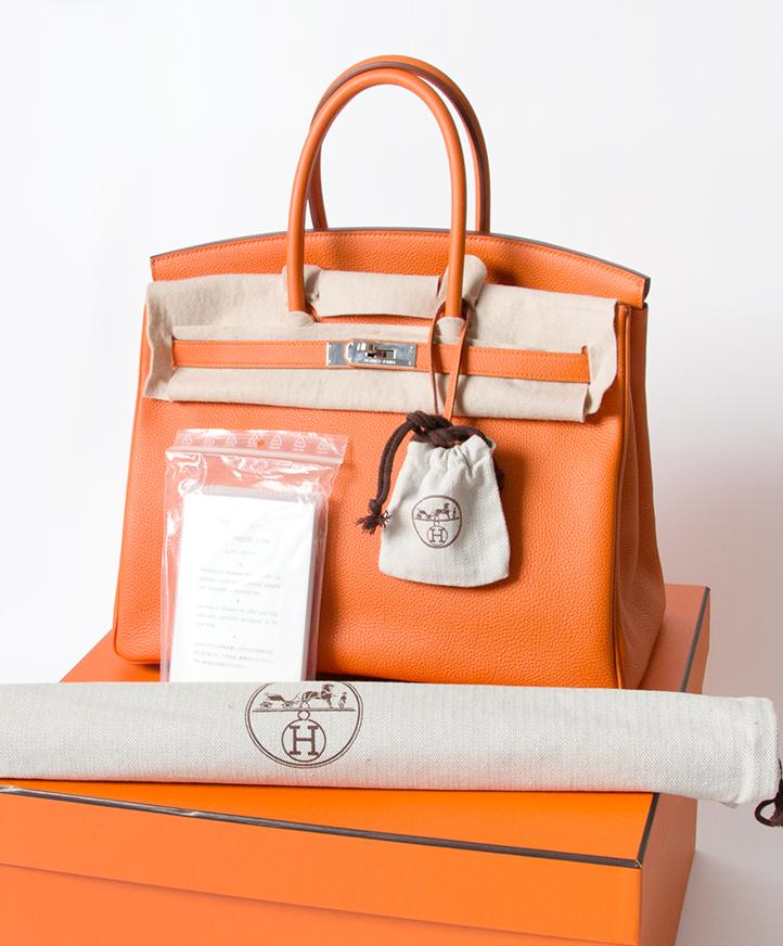 Koop snel en veilig online tweedehands Hermes Birkin 35cm Oranje aan de beste prijs snel en veilig leverbaar
