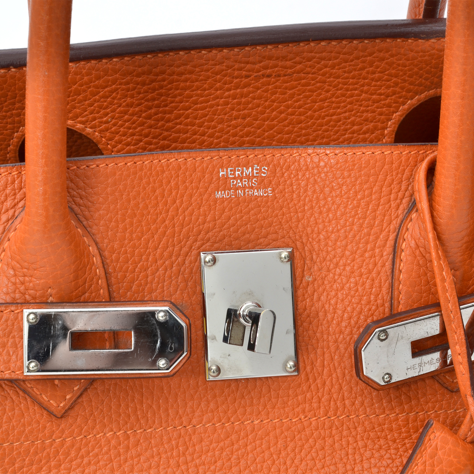 hermes birkin bag authentic orange