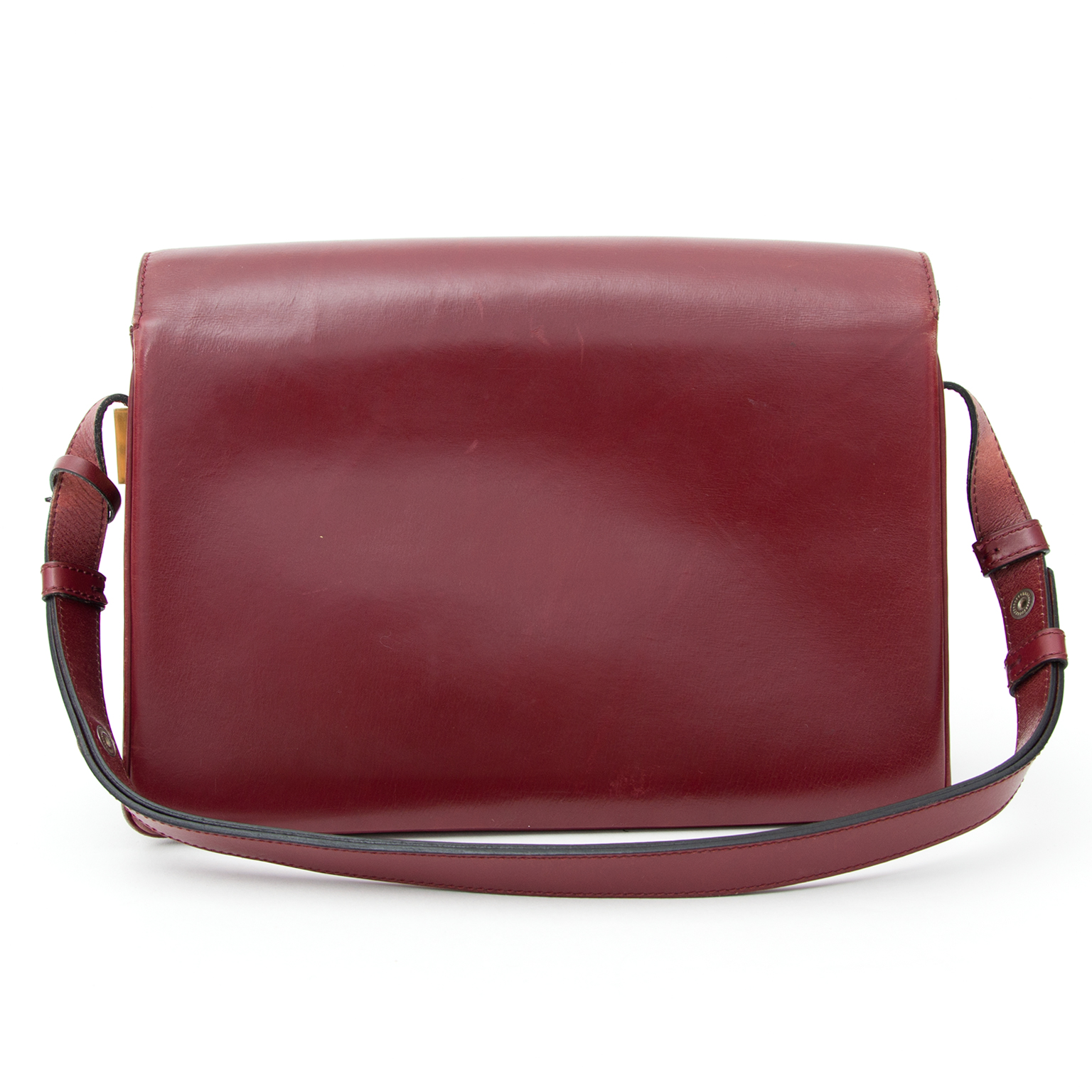 ... Delvaux Burgundy Madame Shoulder Bag secondhand authentic safe online  shopping webshop fashion style Antwerp Belgium LabelLOV 63f8106330797
