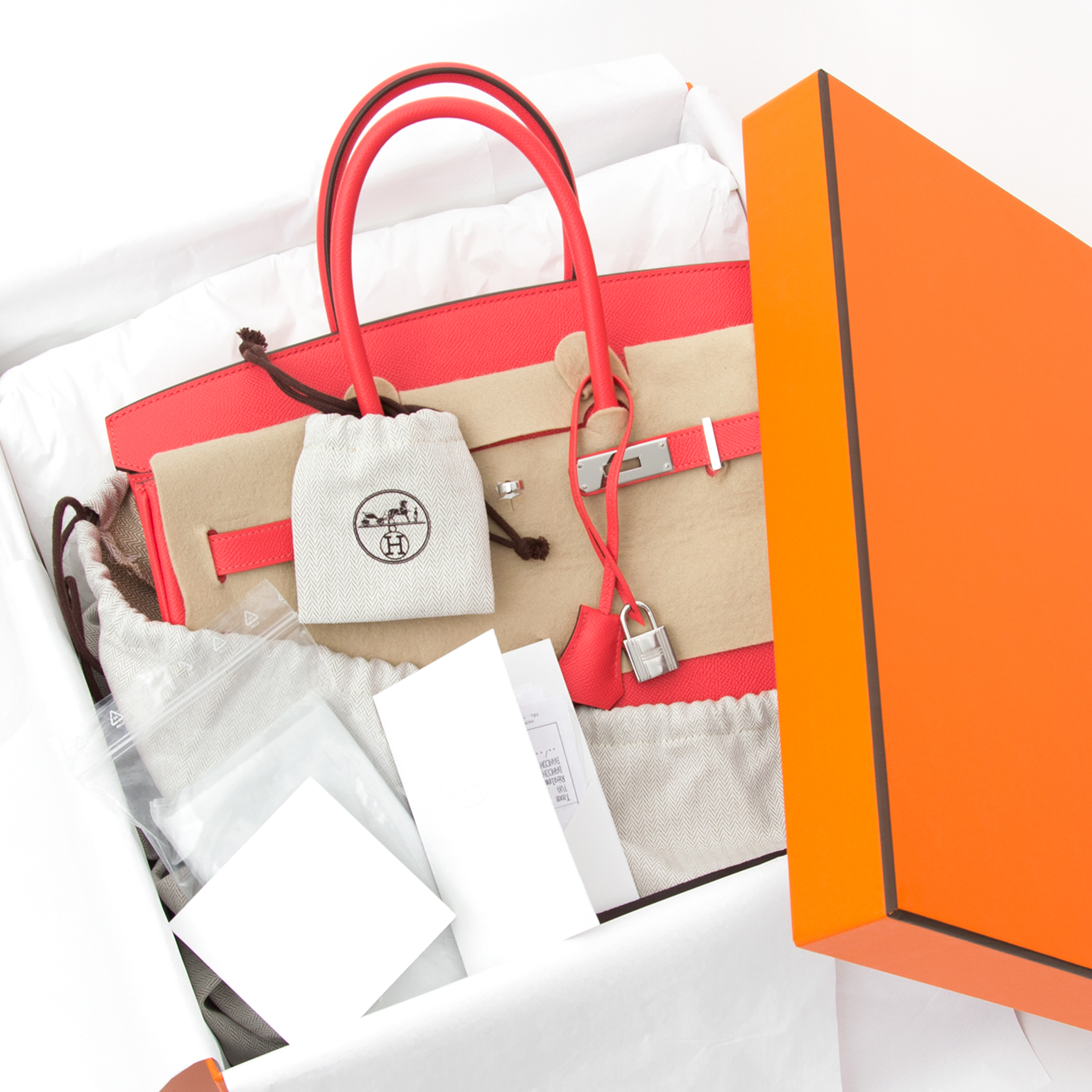 d9903d103919 ... BRAND NEW Hermès Birkin Bag 35 Epsom Rose Jaipur PHW. Buy authentic  secondhand Hermès bags