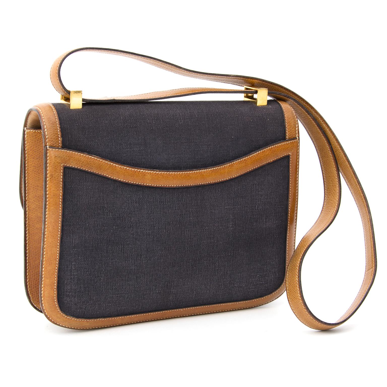 1d52bcbf7f7 ... koop veilig online tweedehands Hermes Constance Leather Canvas aan de  beste prijs