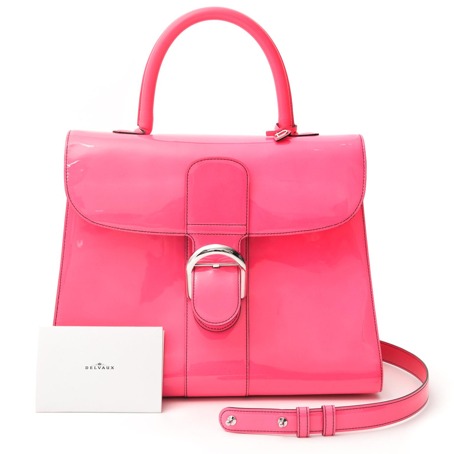 RARE BRAND NEW Pink Fluorescent Handbag worldwide shipping Delvaux , belgium , antwerp labellov.com