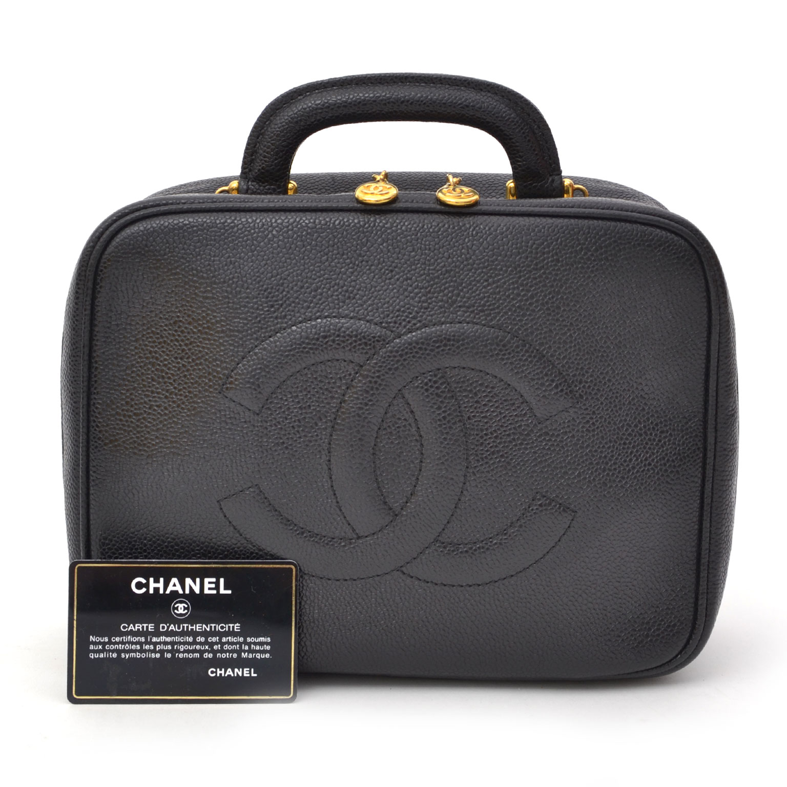 40354d27a2d880 ... best price worldwide shipping like new acheter en ligne seconde main  Chanel Caviar Leather Vanity Case pour le meilleu prix