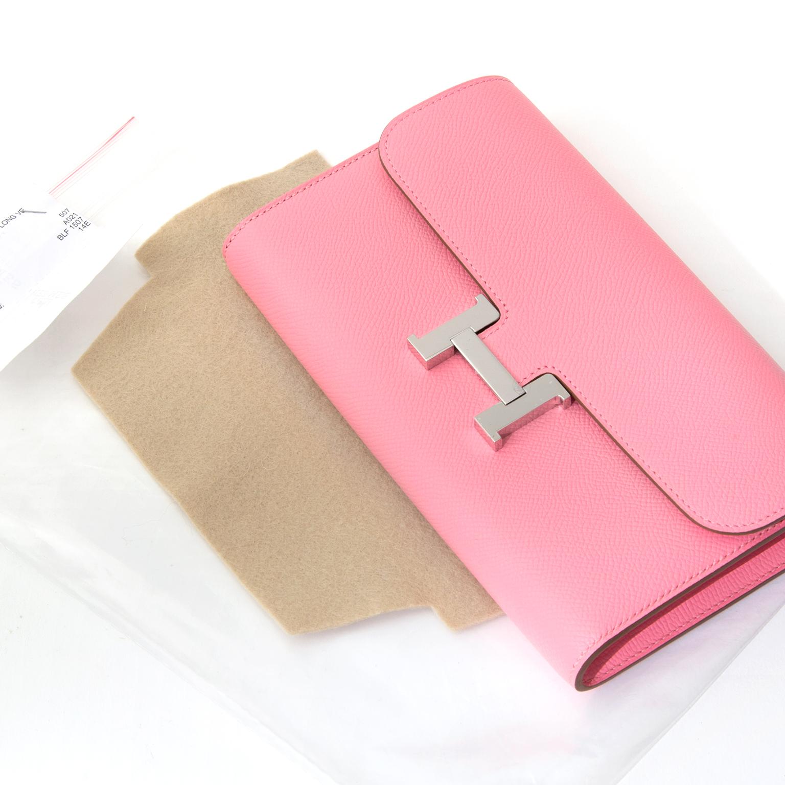 f90bdac3ccad ... Shop safe online brand new BRAND NEW Hermes Constance Long Wallet Veau  Epsom Rose Confetti online