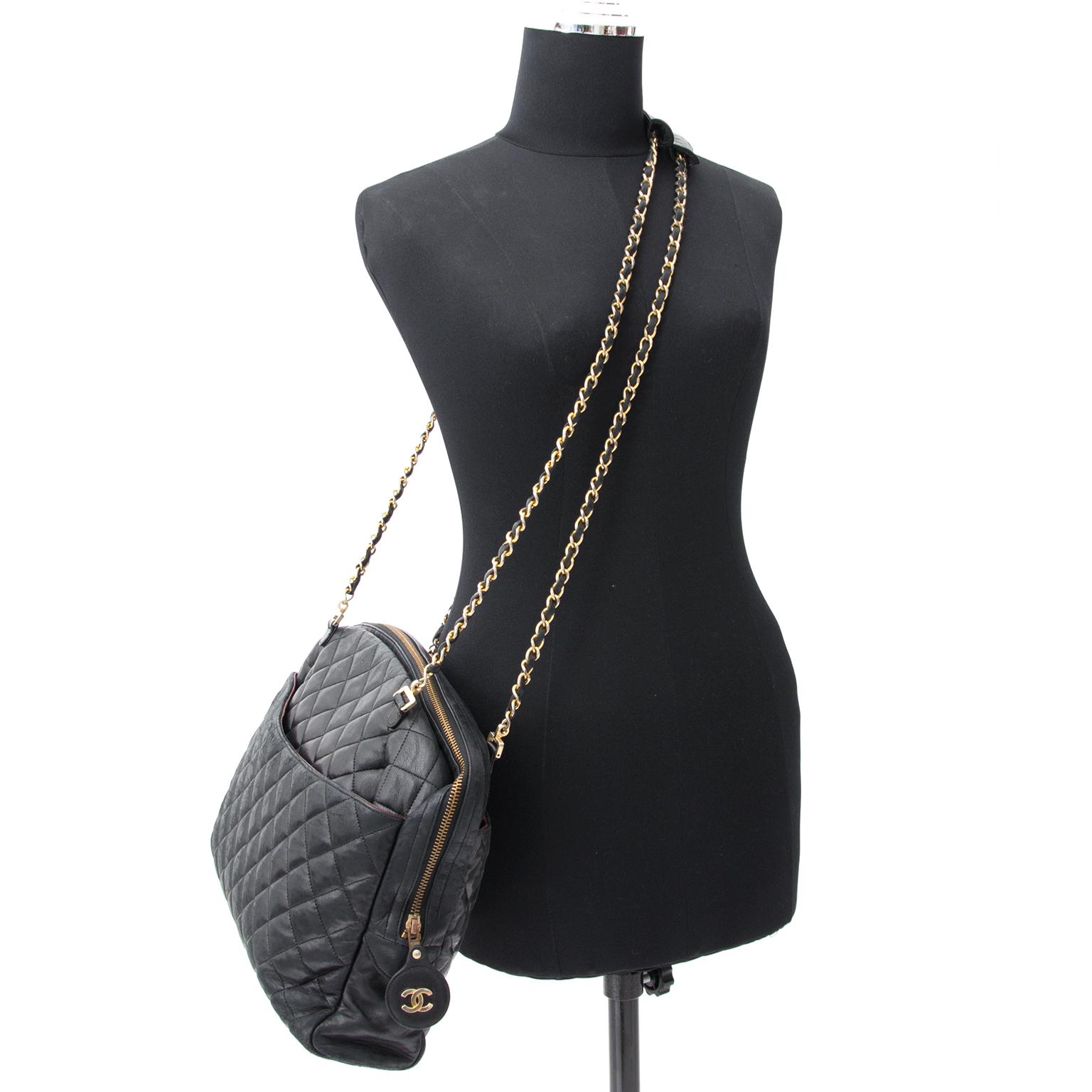4947441ed3de buy safe online second hand designer Chanel Vintage Black Quilted Leather  Tote Bag koop veilig online tweedehands Chanel Vintage Black Quilted  Leather Tote ...