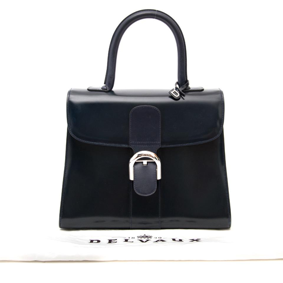 ... acheter en ligne seconde main sac a main Delvaux Dark Blue Brillant MM  Bag pour le a25581015d6