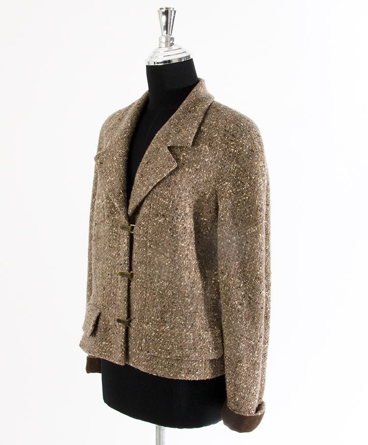 koop veilig online tweedehands chanel tweed tailleur net als als nieuw online webshop labellov
