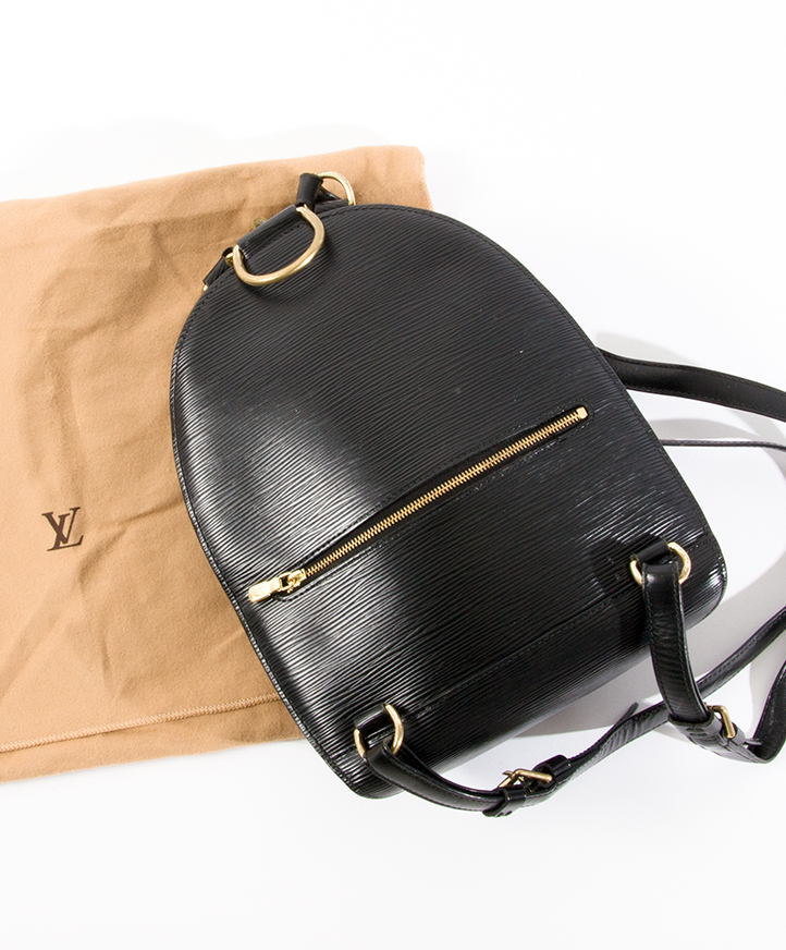 73802d4624b3cc ... Louis Vuitton Black Epi Mabillon Backpack Buy and sell authentic  secondhand designer fashion at the right
