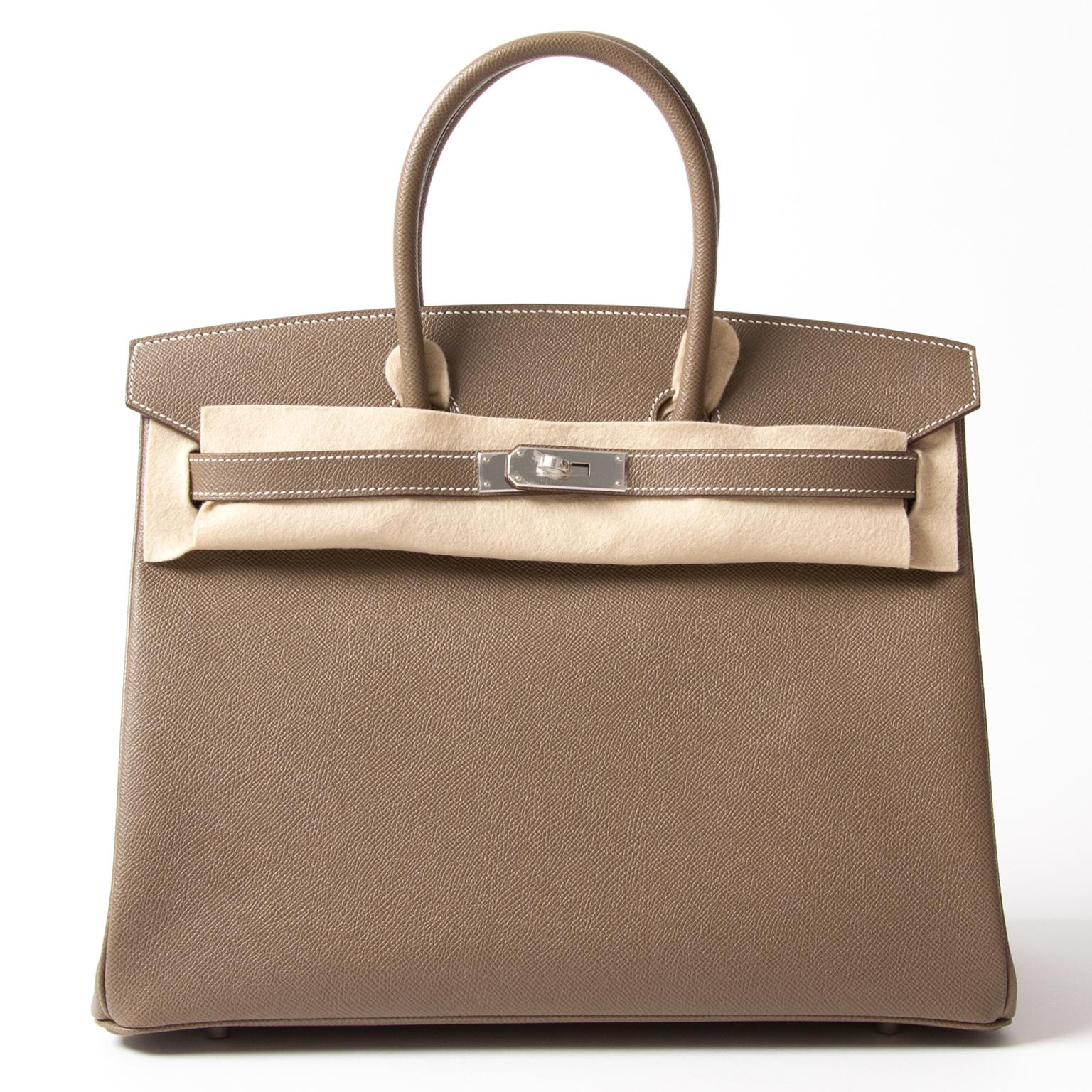 ... Koop veilig online tweedehands designer hermes birkin etoupe aan de  beste prijs 8047b502005f2