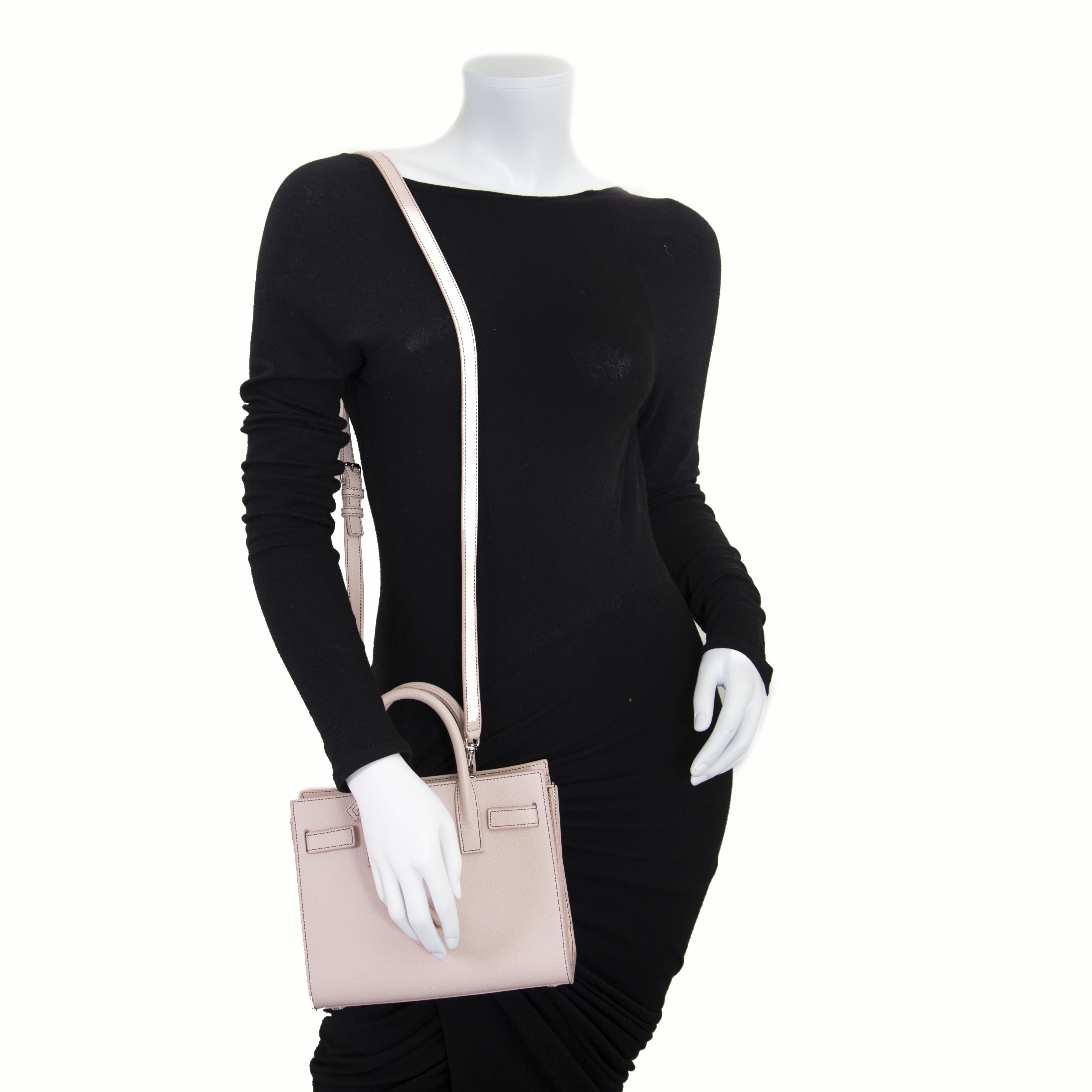 Saint Laurent Dusty Pink Sac De Jour Nano now for sale at labellov vintage fashion webshop belgium