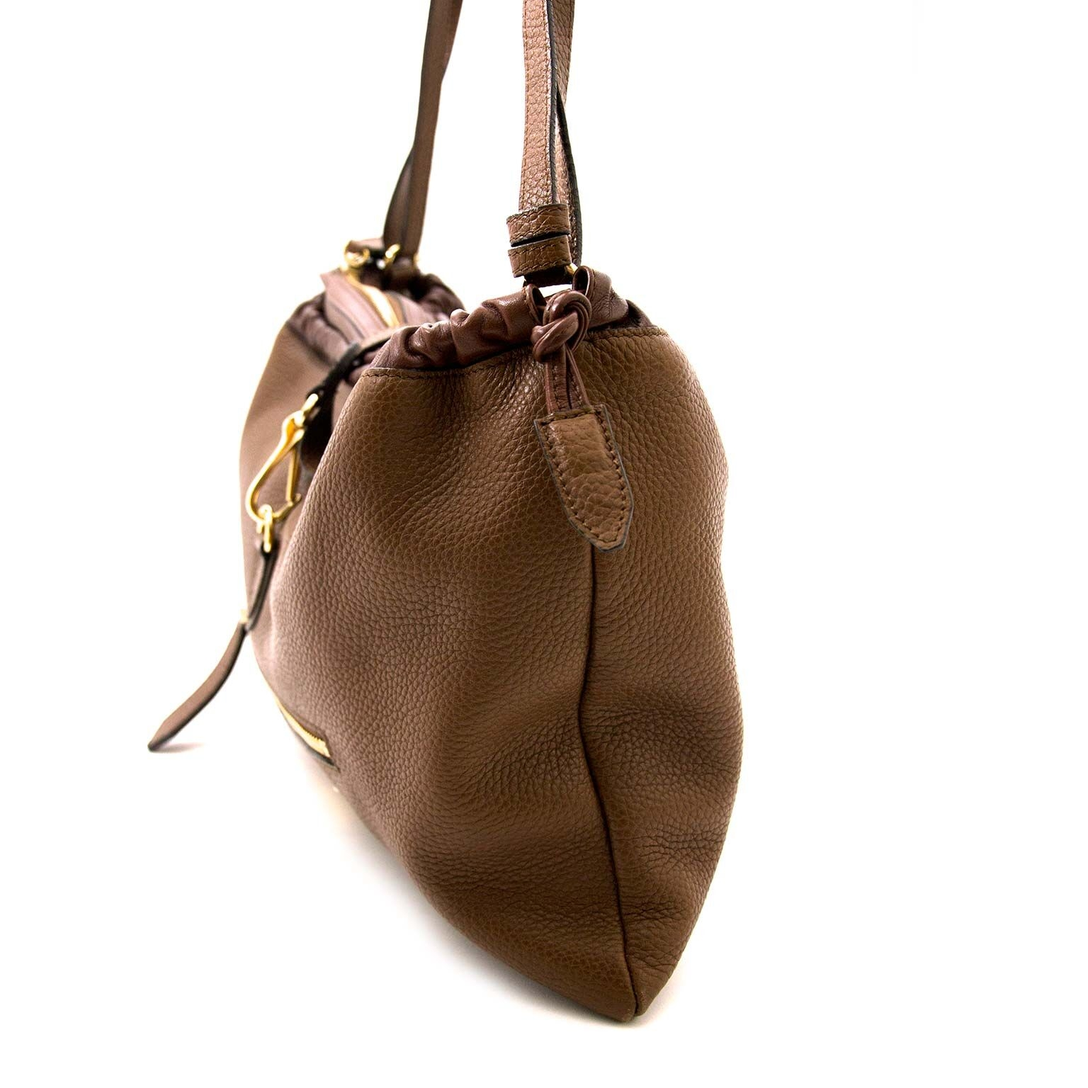 buy Burberry Brown Long Crush Hobo Bag at labellov and pay save online