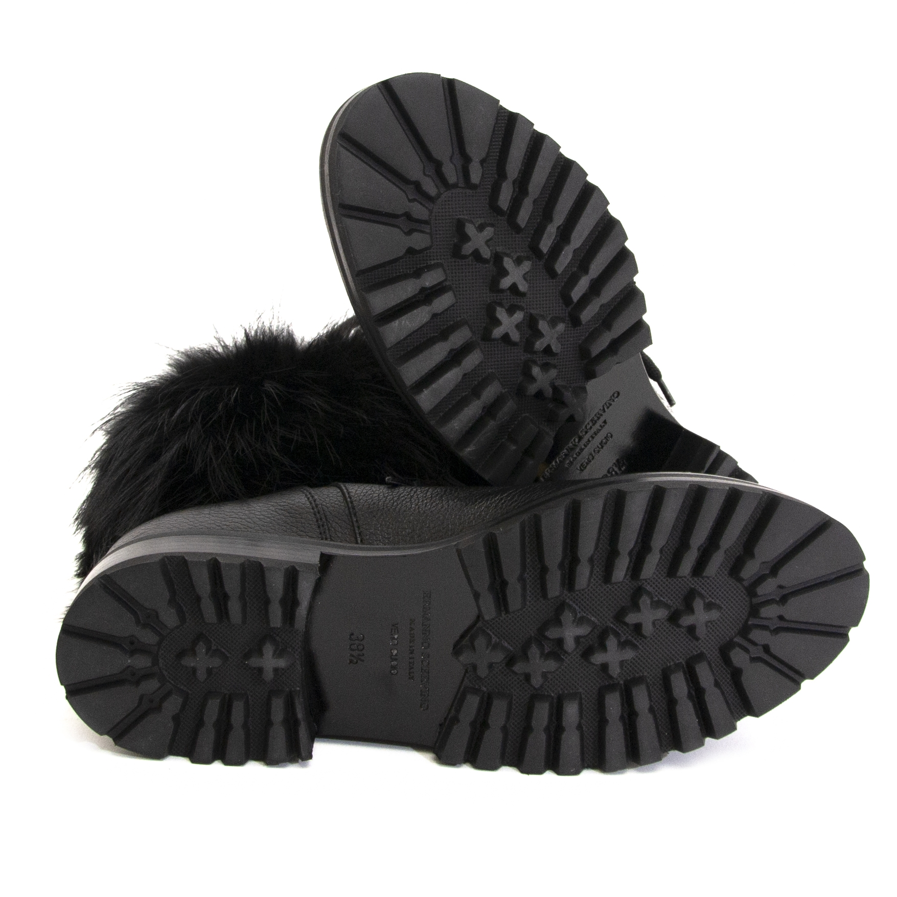 Ermanno Scervino Fur Leather Boots te koop bij Labellov
