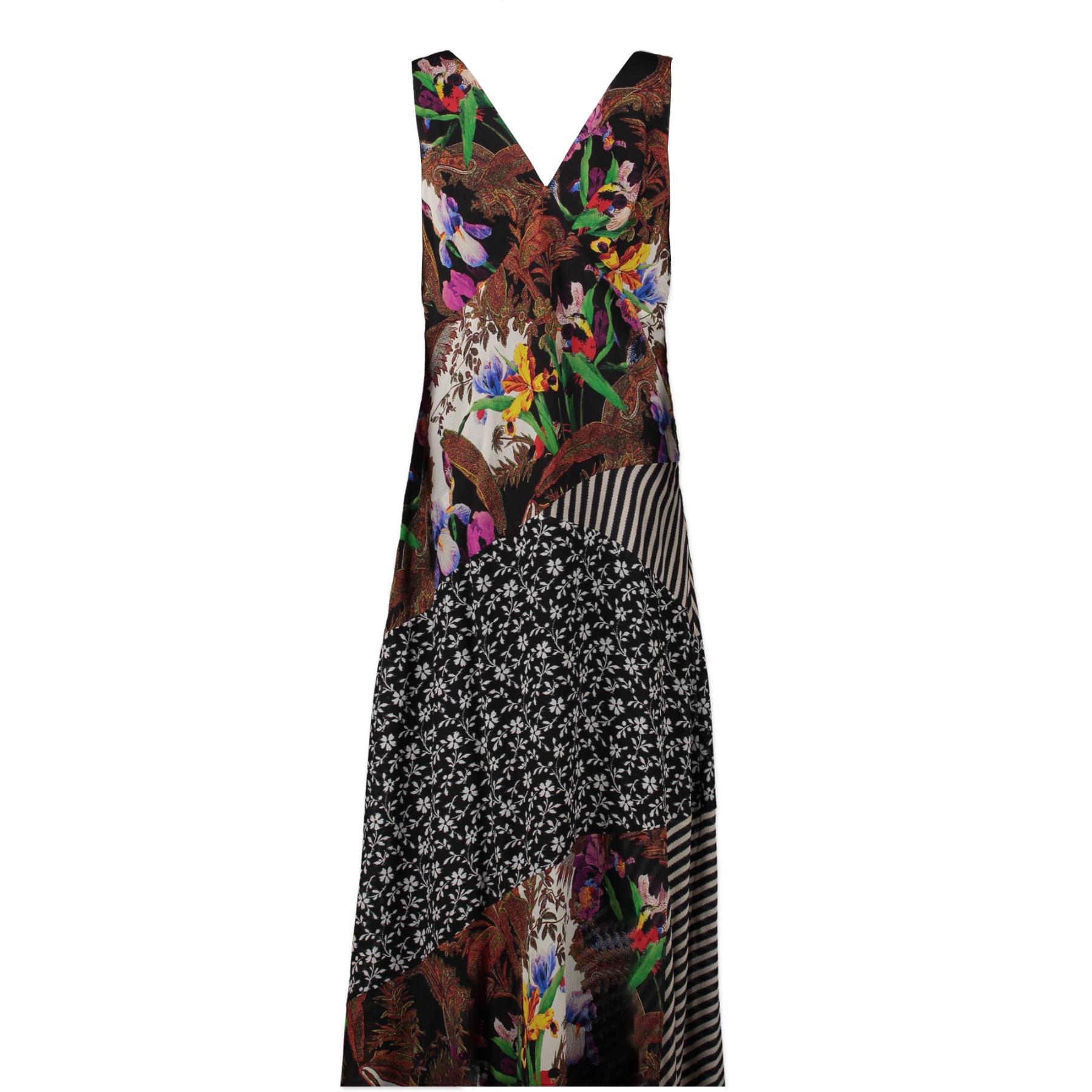 Authentieke tweedehands vintage Etro Multicolor Viscose Nylon Dress - IT Size 46 koop online webshop LabelLOV