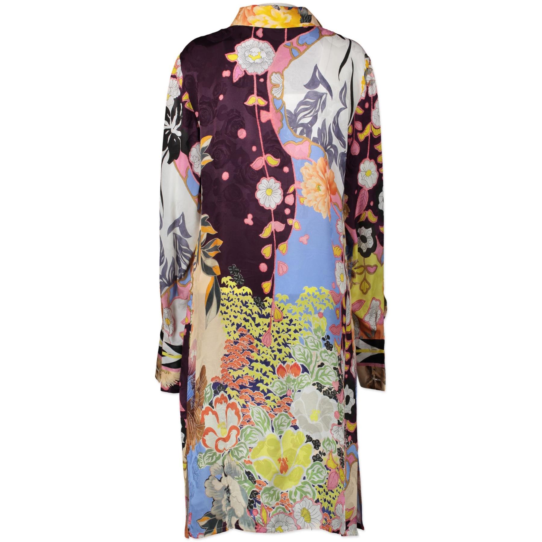 Authentieke tweedehands vintage Etro Abiti Printed Shirt Dress - Size 46 koop online webshop LabelLOV