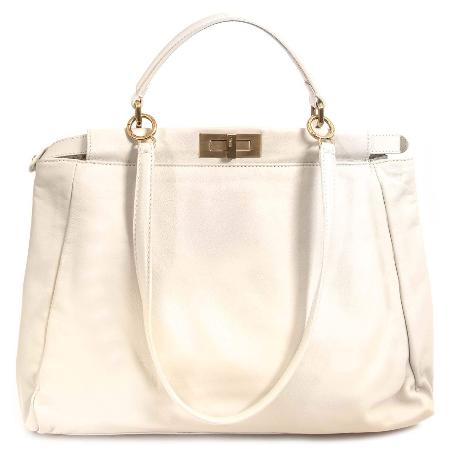 Are you looking for an authentic Fendi Peekaboo Cream White Large Bag