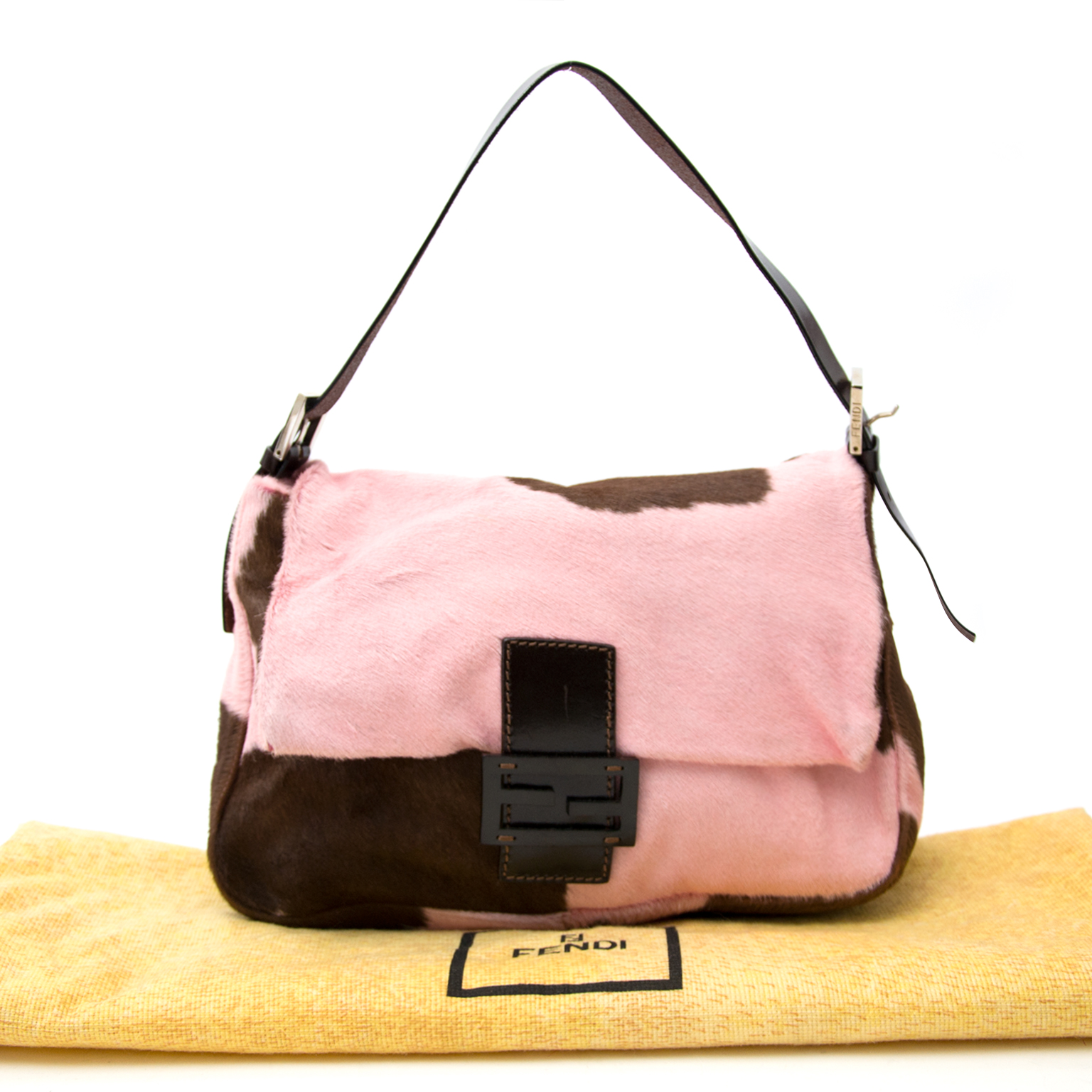 acheter en ligne pour le meilleur prix sac a main Fendi Medium Pony Hair Baguette