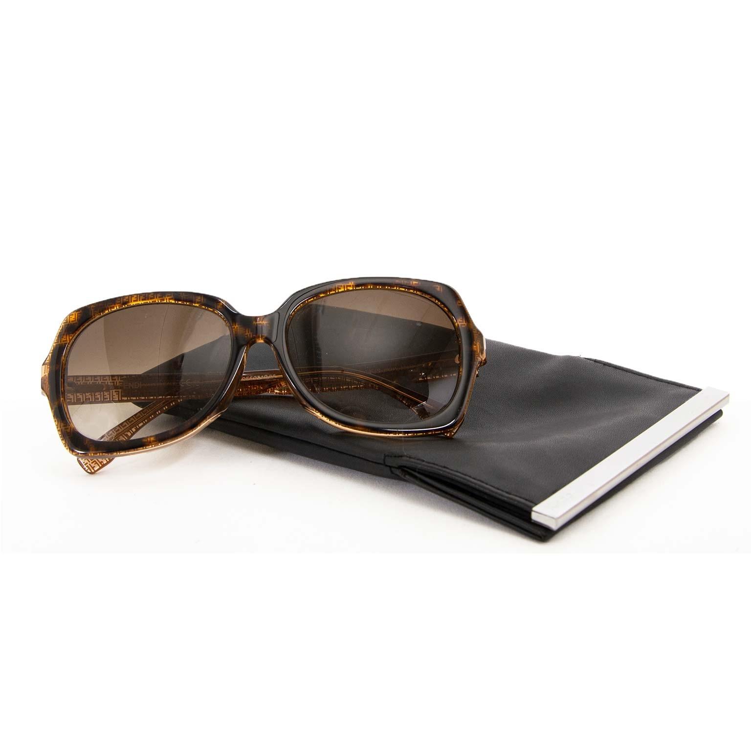 fendi monogram rectangle sunglasses now for sale at labellov vintage fashion webshop belgium