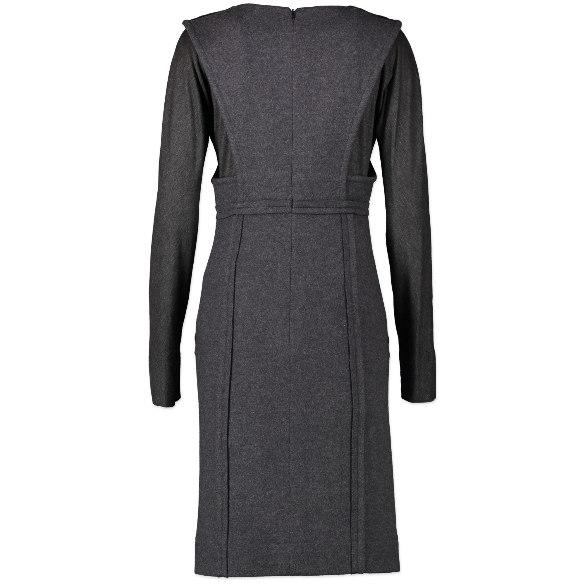 Fendi Grey Long Sleeves Knit Dress - size 38