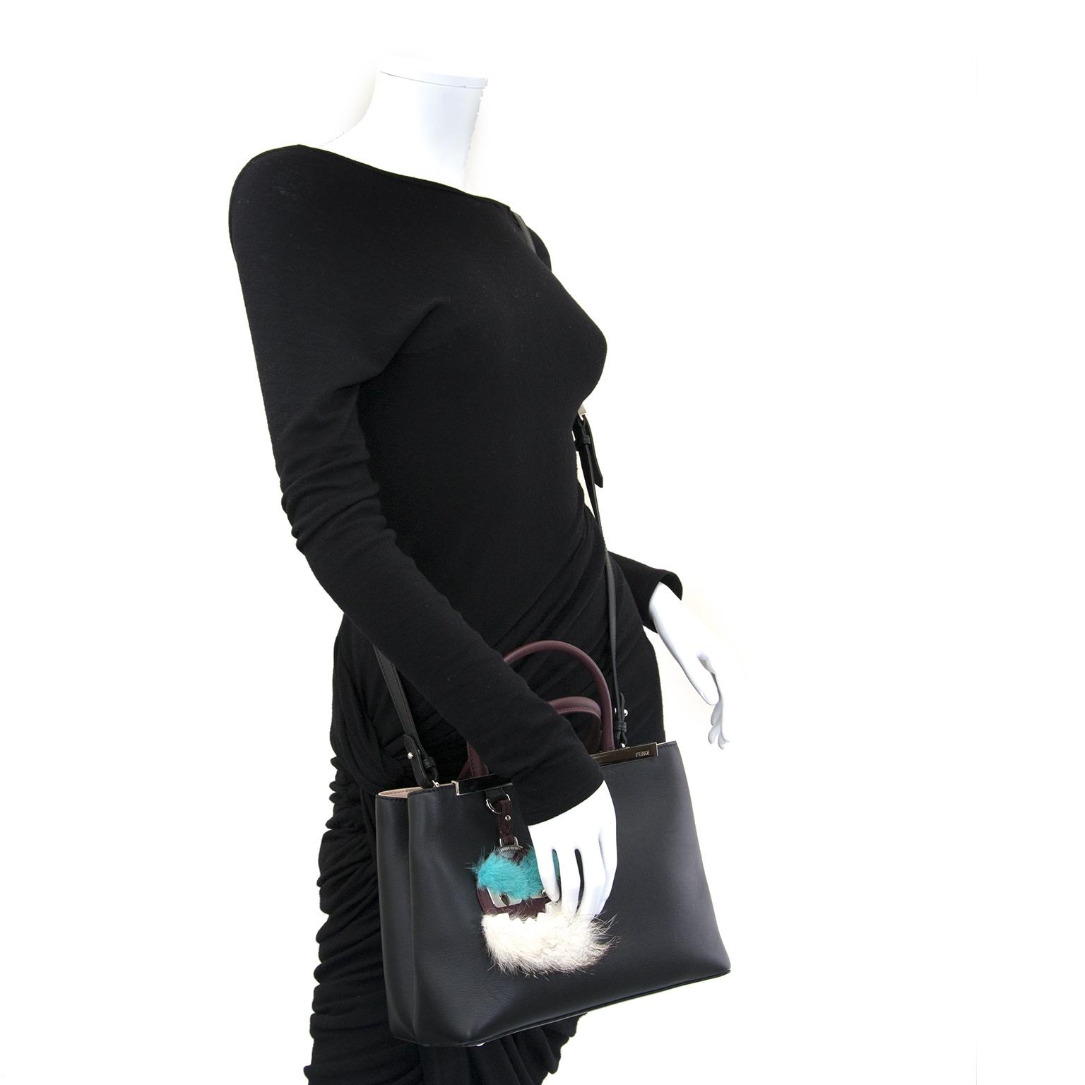 47bbffeb5f ... fendi petite 2jours black leather tote now for sale at labellov vintage  fashion webshop belgium