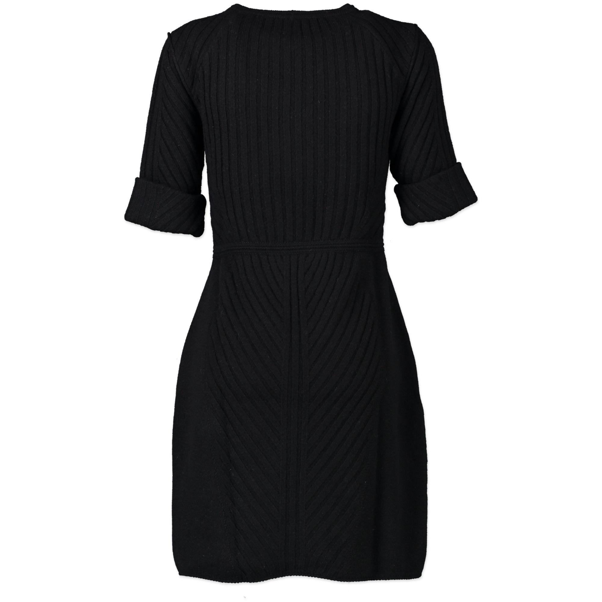 Fendi Cashmere Black Dress - size 38 - for sale online at Labellov