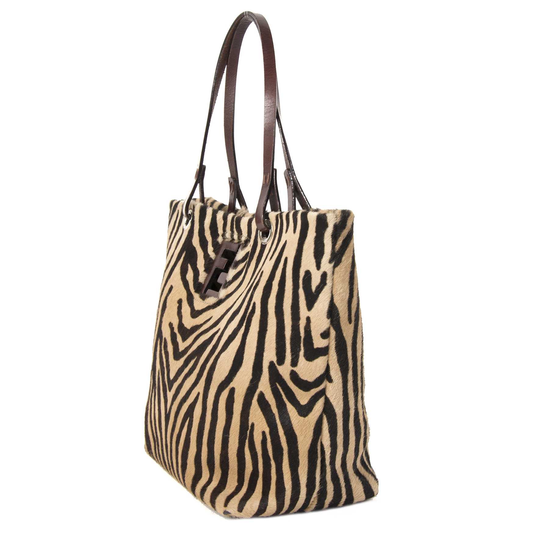 Buy and sell your authentic Fendi Zebra Hair Shoulder Bag
