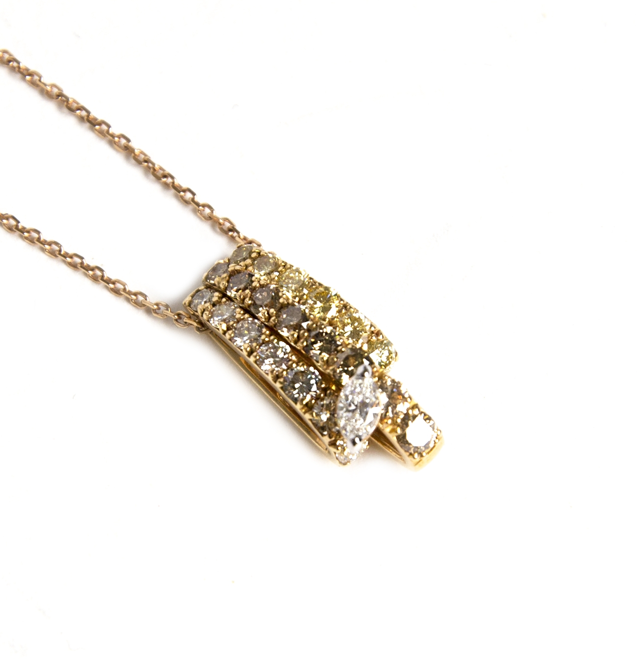 Koop uw authentieke Ferrari Firenze Necklace Gold & Diamonds