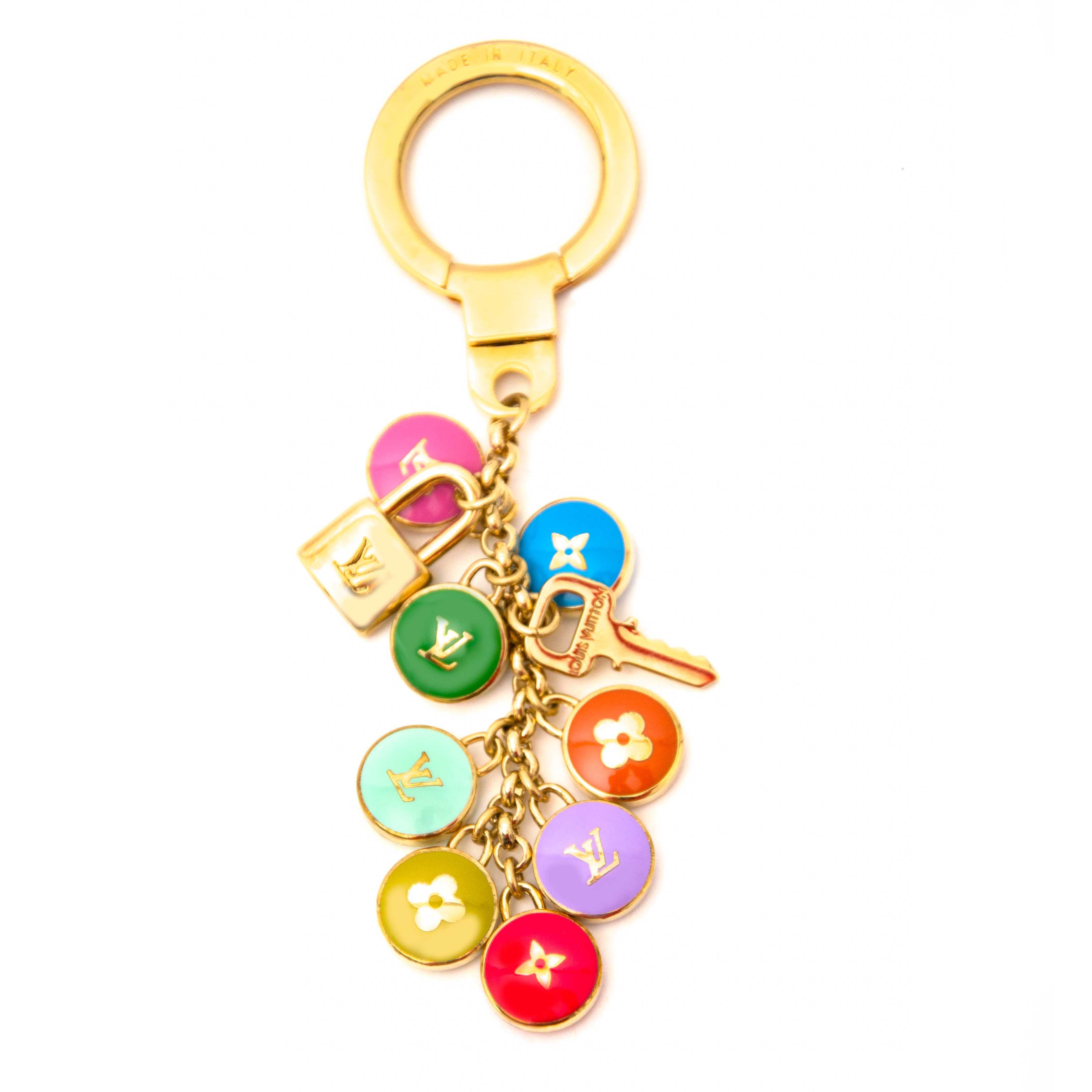 Louis Vuitton Multicolor Pastilles Key Chain Bag Charm