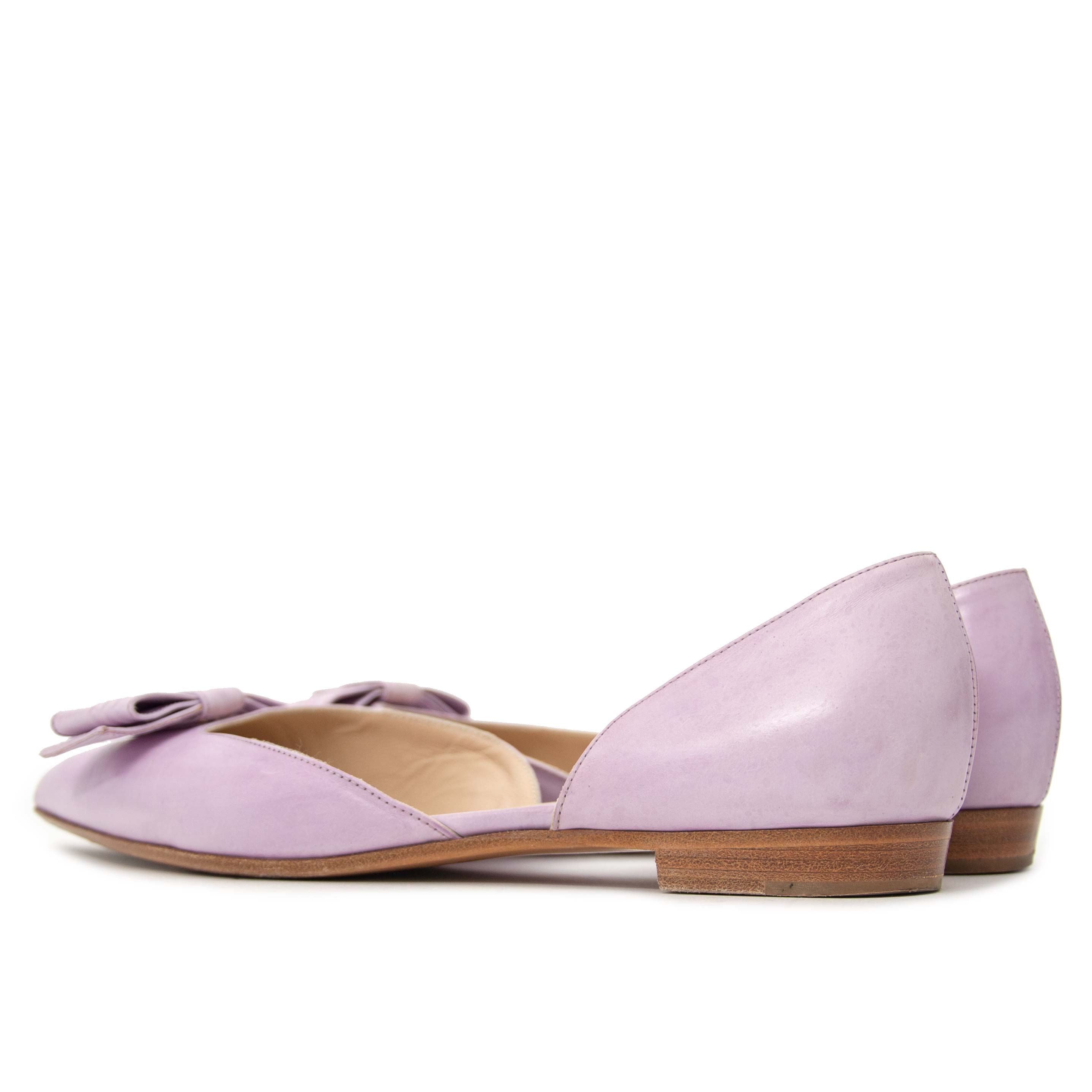 buy secondhand Fratelli Rossetti Lila Patent Leather Ballerina Flats by labellov