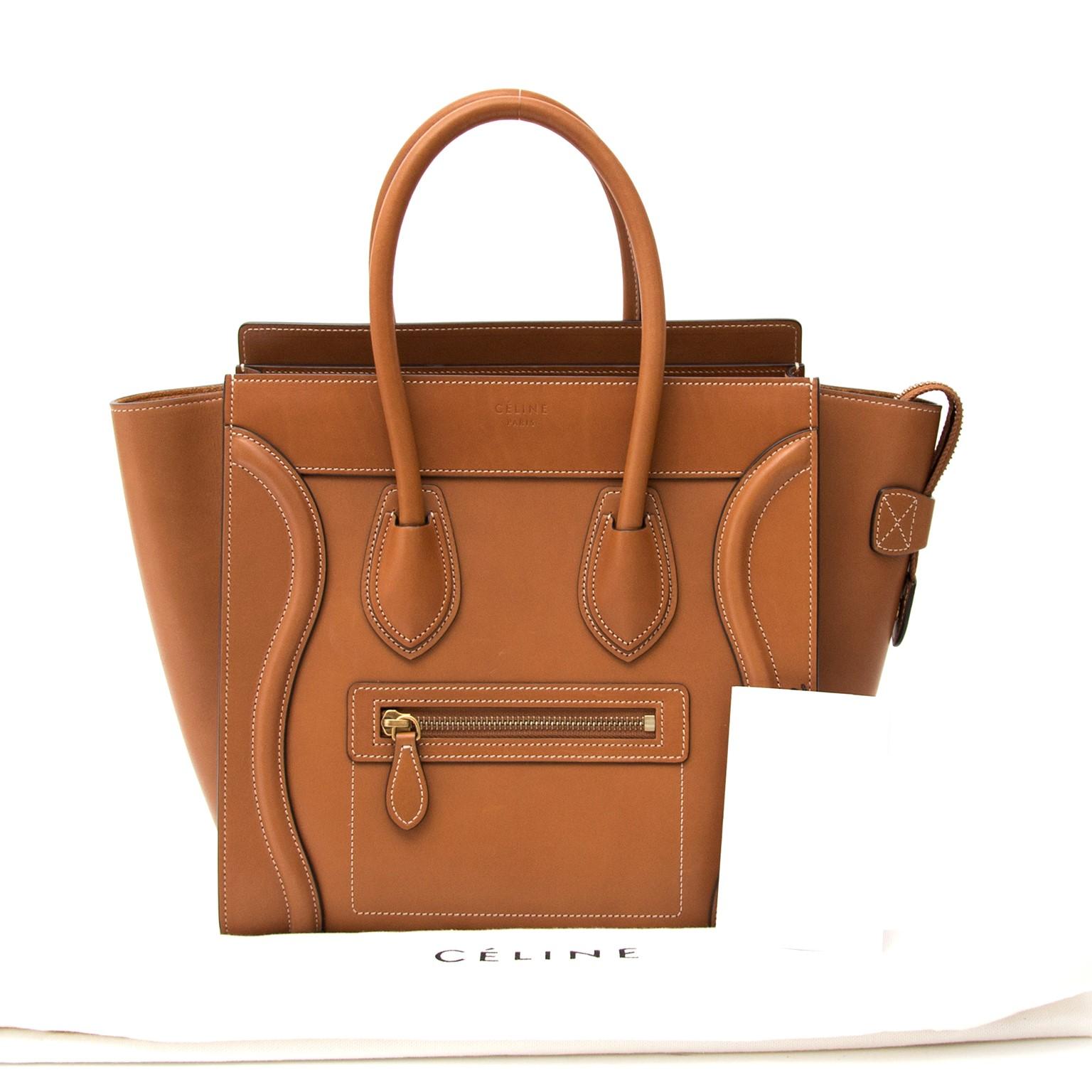 ecc3c0baf5 Safe and Vintage Céline micro debossed luggage handbag for the best price  at Labellov webshop. Safe and