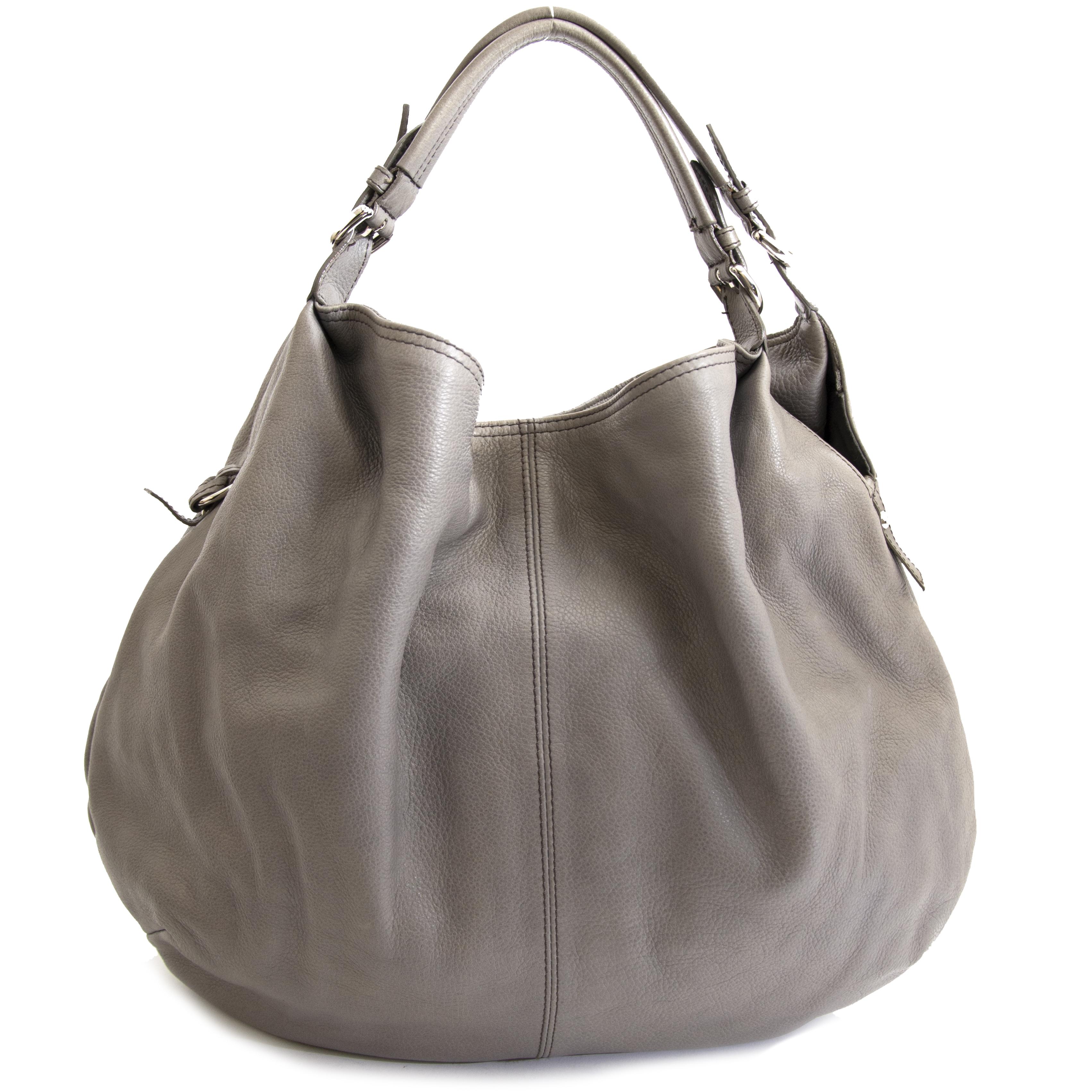 Authentieke tweedehands Furla Shoulder Bag Grey koop online webshop LabelLOV