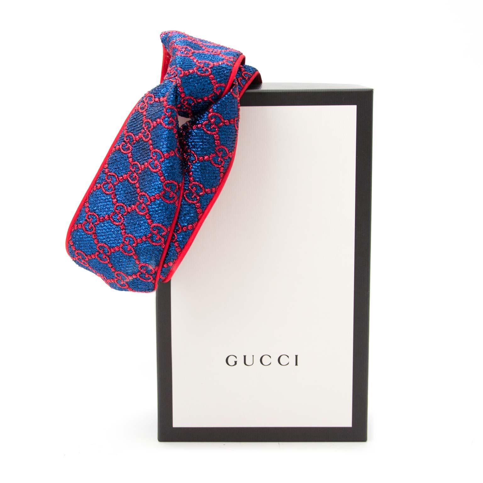 acheter en ligne chez labellov.com pour le meilleur prix gucci gg supreme glitter jacquard