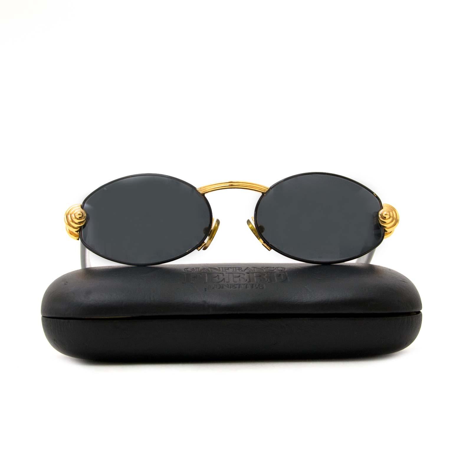 6ad61caaea5 ... koop authentieke gianfranco ferre ovale zonnebril bij labellov vintage  mode webshop belgië