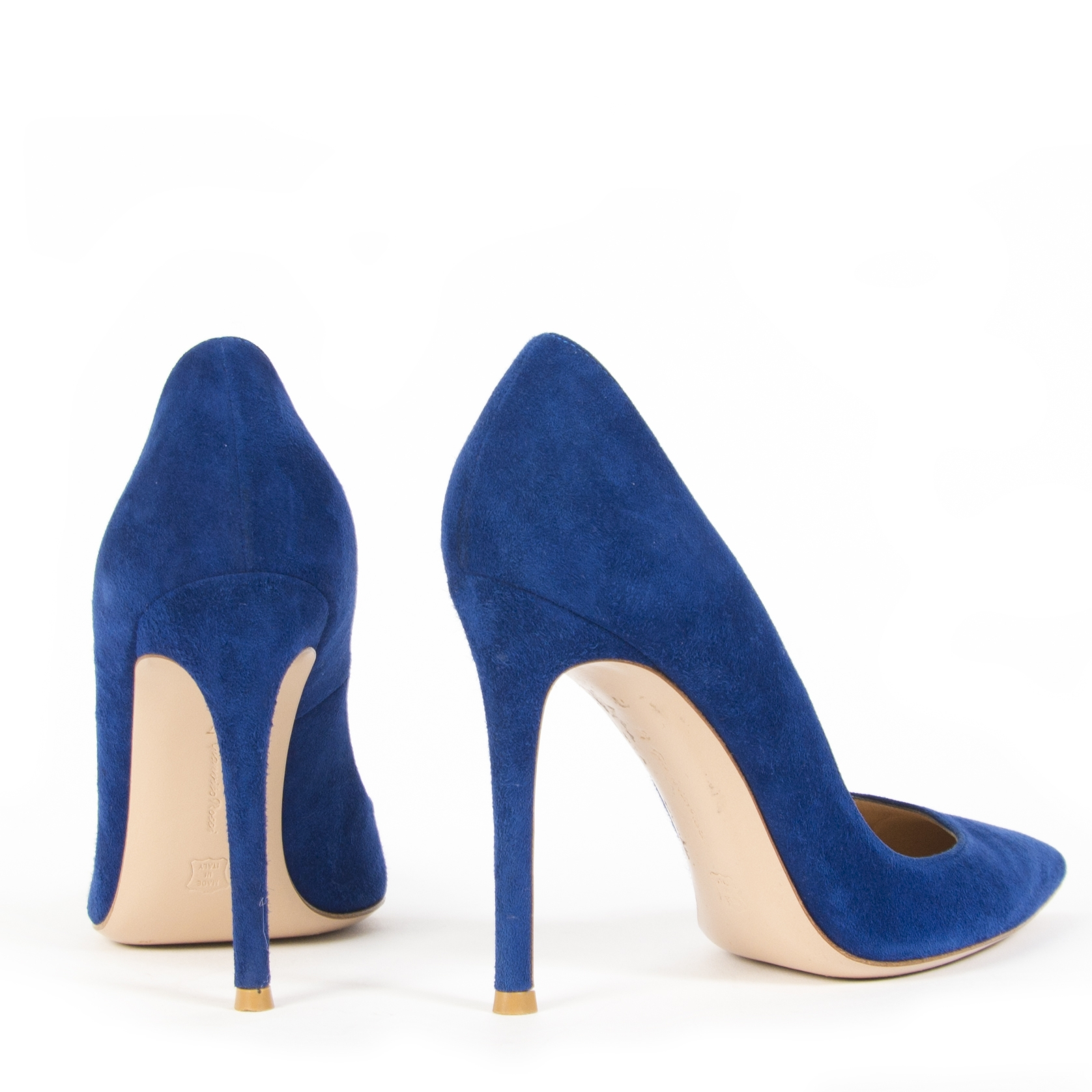 Gianvitto Rossi Suede Cobalt Blue Pumps - Size 37