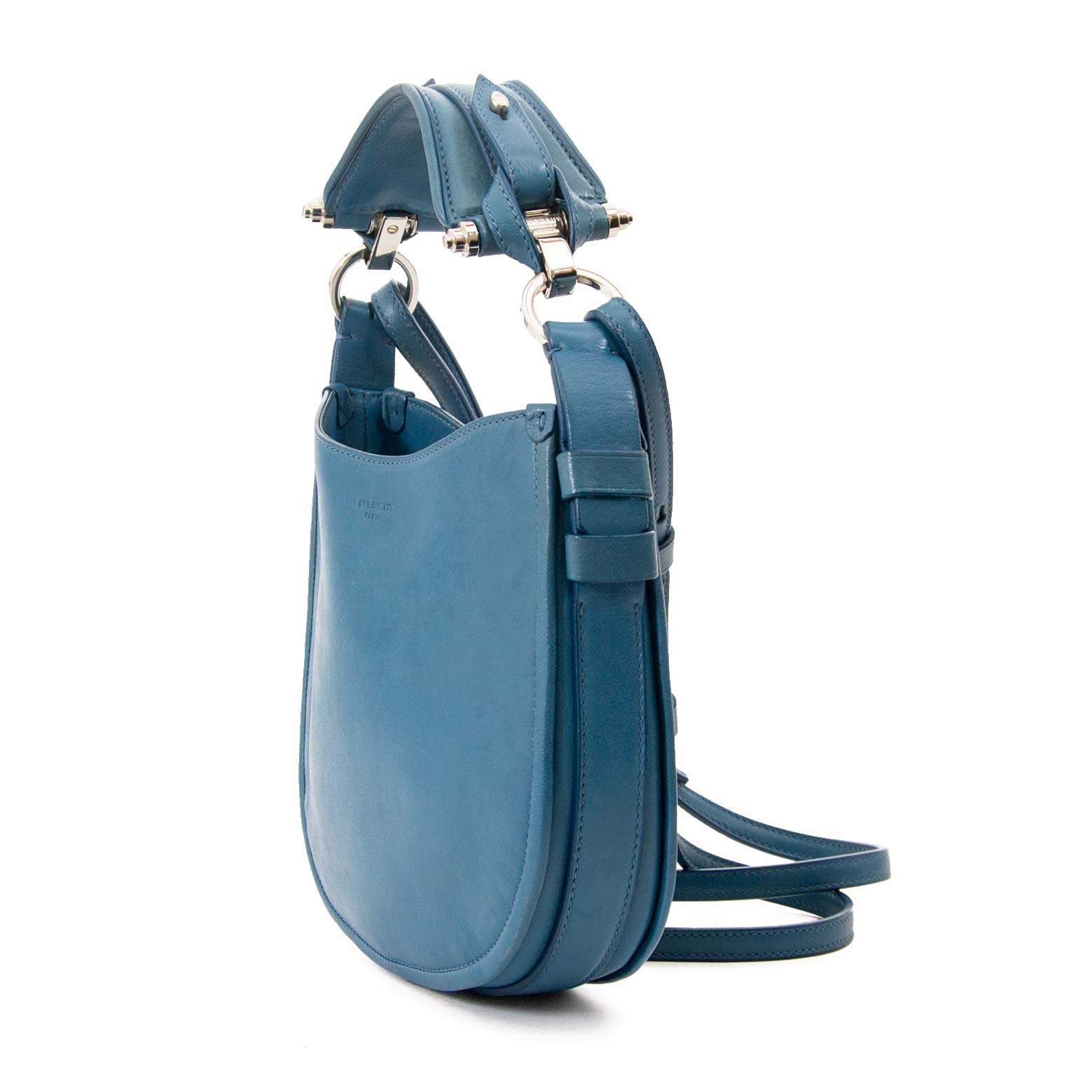 ee1bdb514b03 ... Buy second hand authentic Givenchy Small Blue Obsedia Hobo Bag safe  online at labellov.com