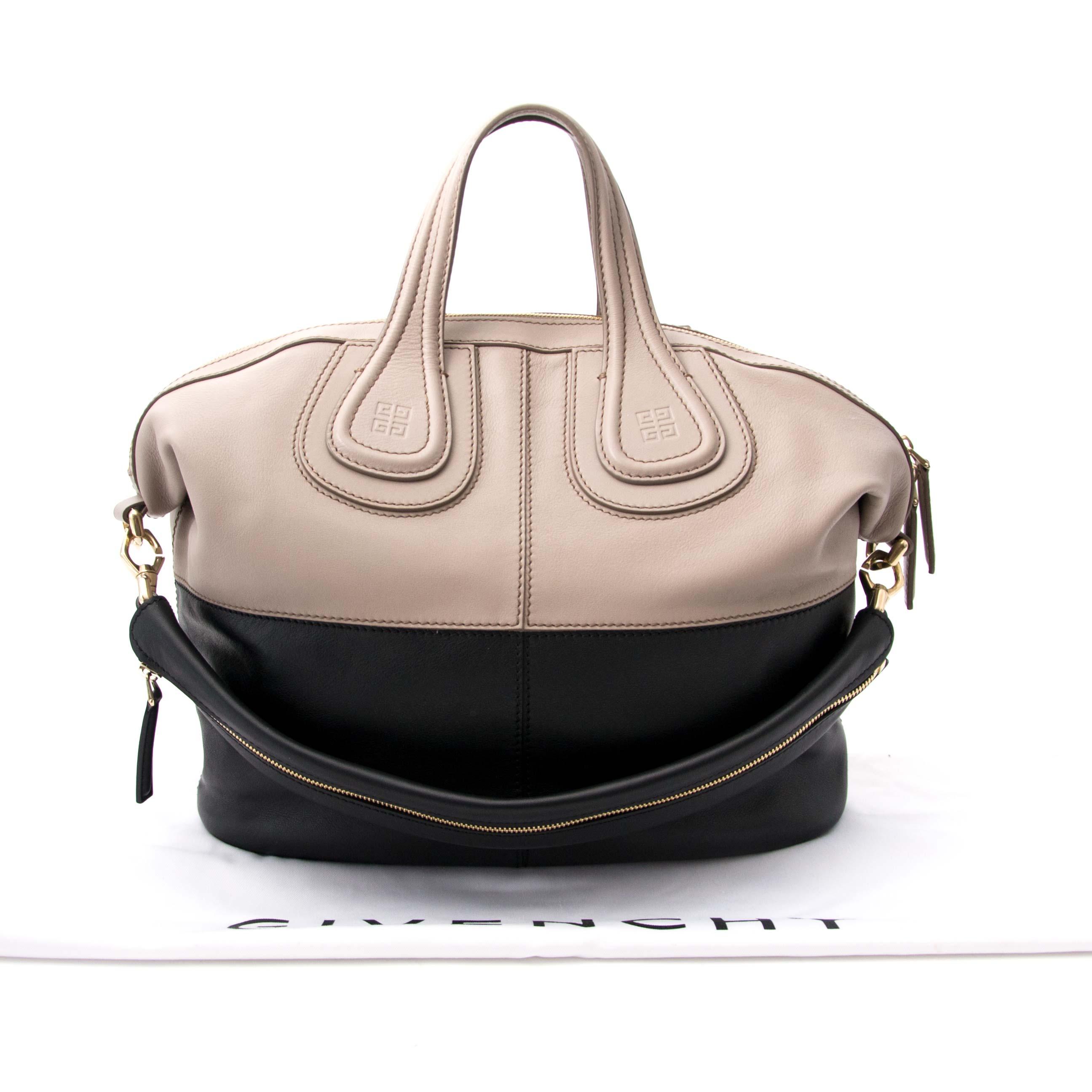 shop online jour secondhand Givenchy Nightingale Medium Bicolor Shoulder Bag