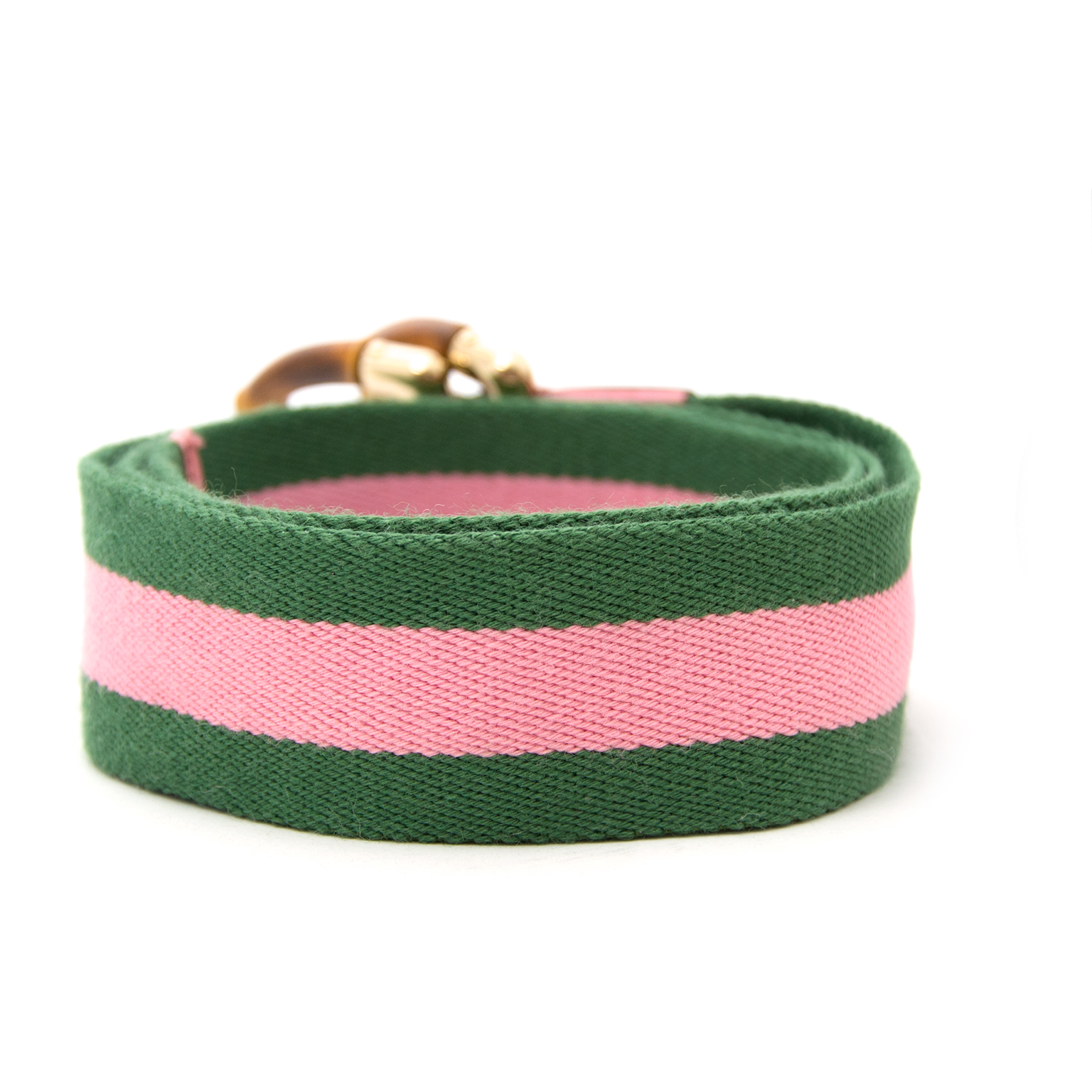 shop safe online at the best price Gucci Canvas Web Bamboo Belt