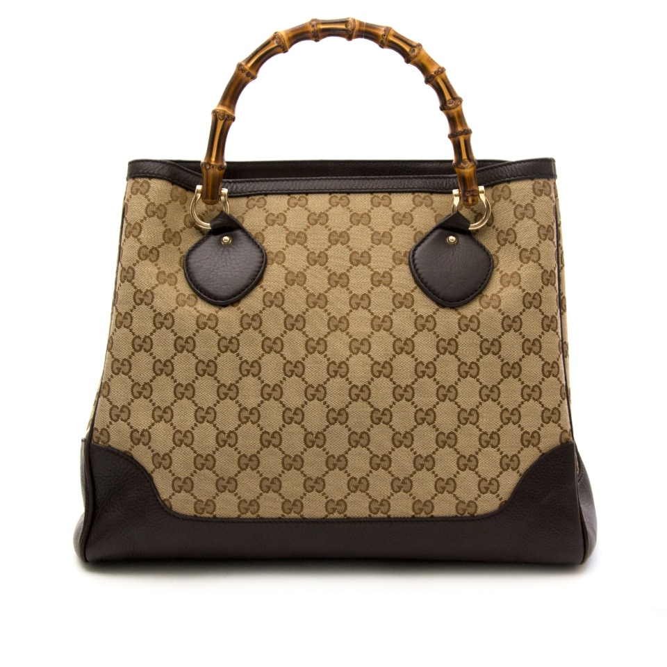 Buy and sell your Gucci Monogram Bamboo Tote for the best price