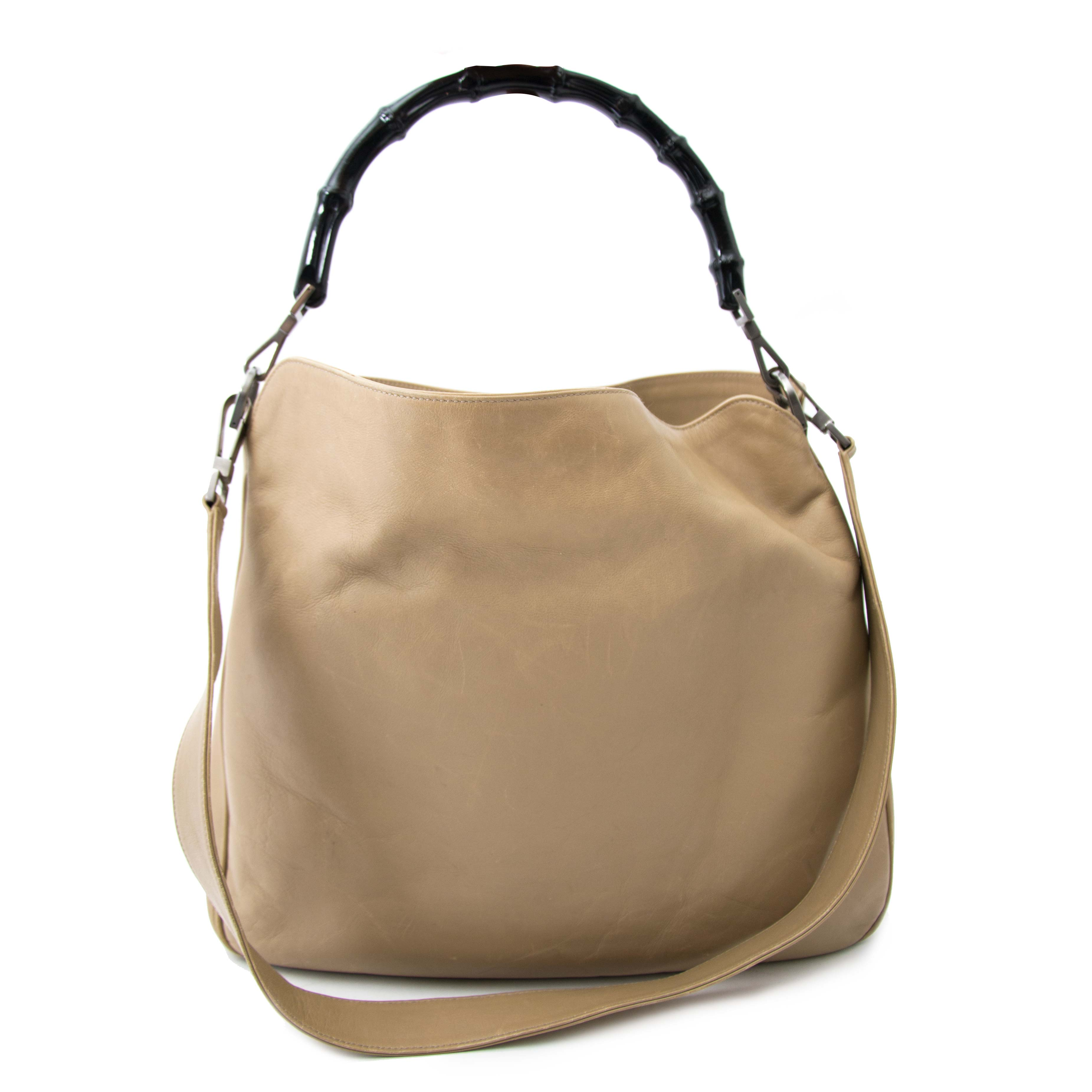 5e502447726 ... shop online at the best price Gucci Taupe Bamboo Shoulder Bag