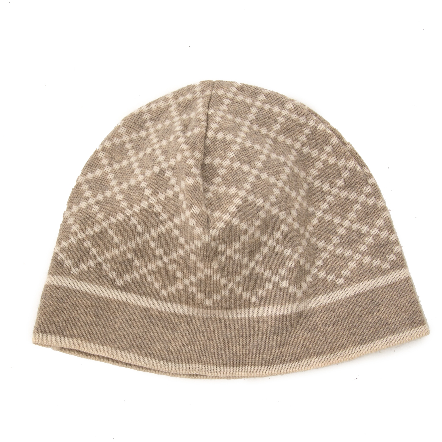 100% authentic Gucci Diamante-Pattern Wool Hat available online