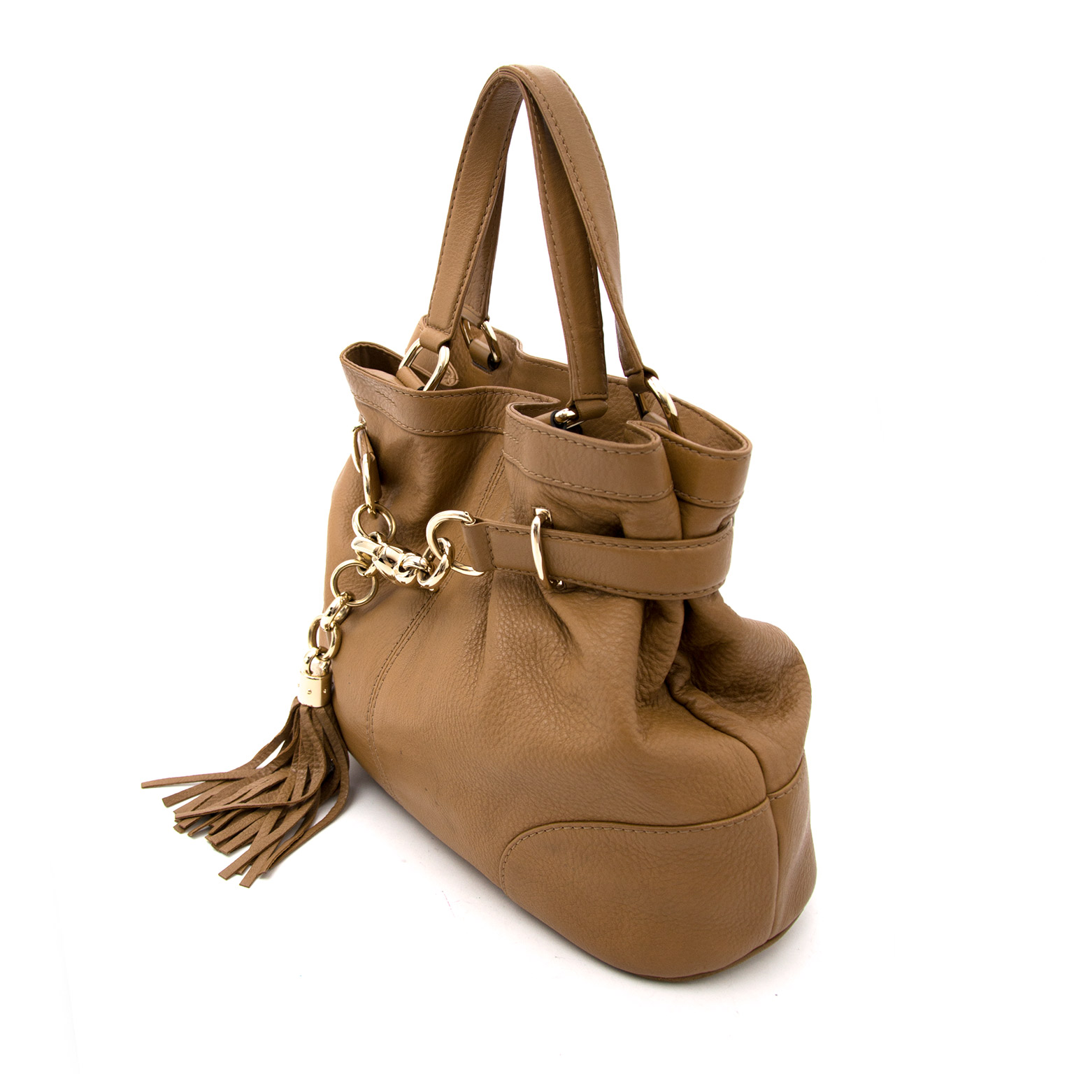 gucci brown bamboo tassel bag now online at labellov.com for the best price