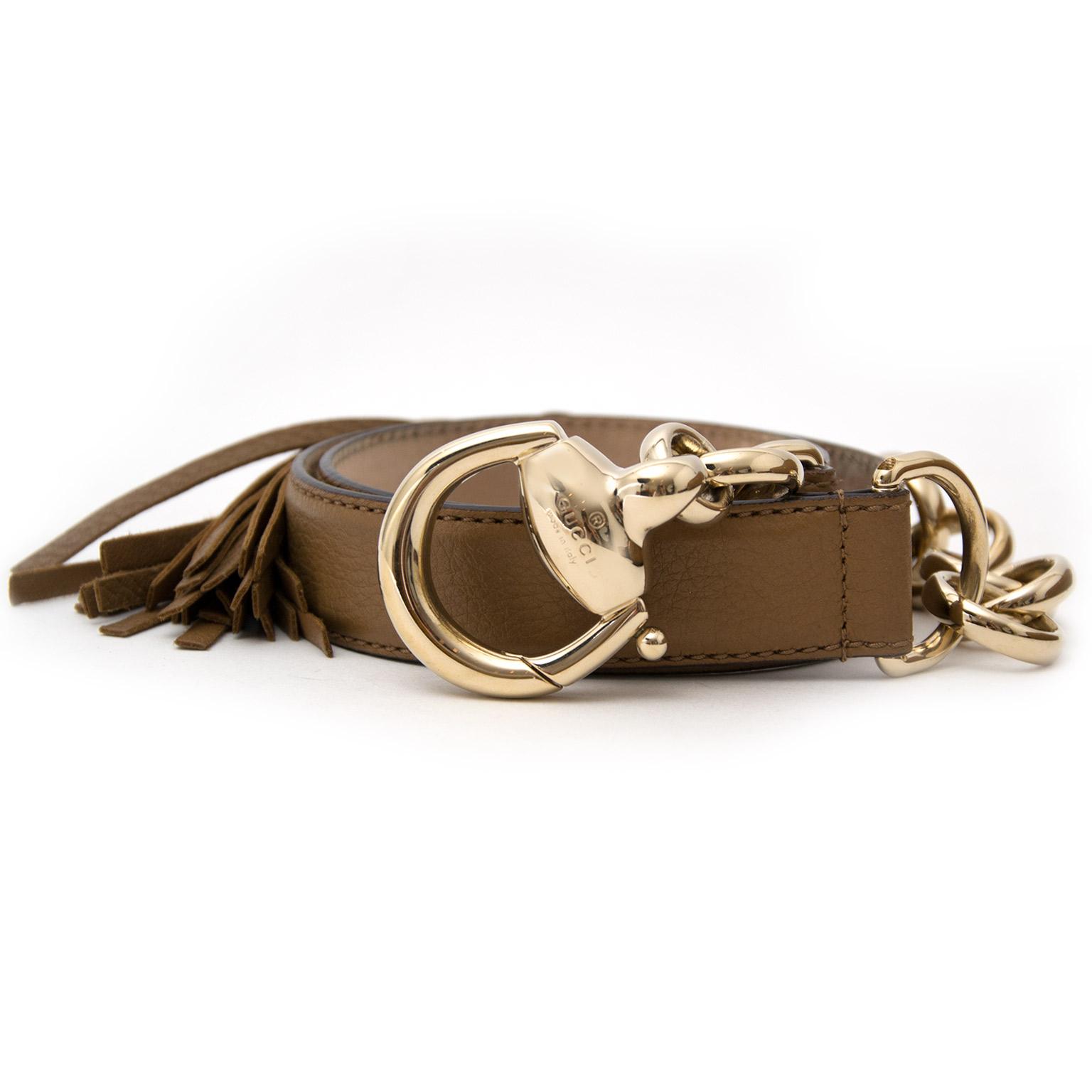 734fd69940a Acheter en ligne chez labellov.com pour le meuilleur prix Gucci Brown  Leather Bamboo Tassel Belt now online at labellov.com