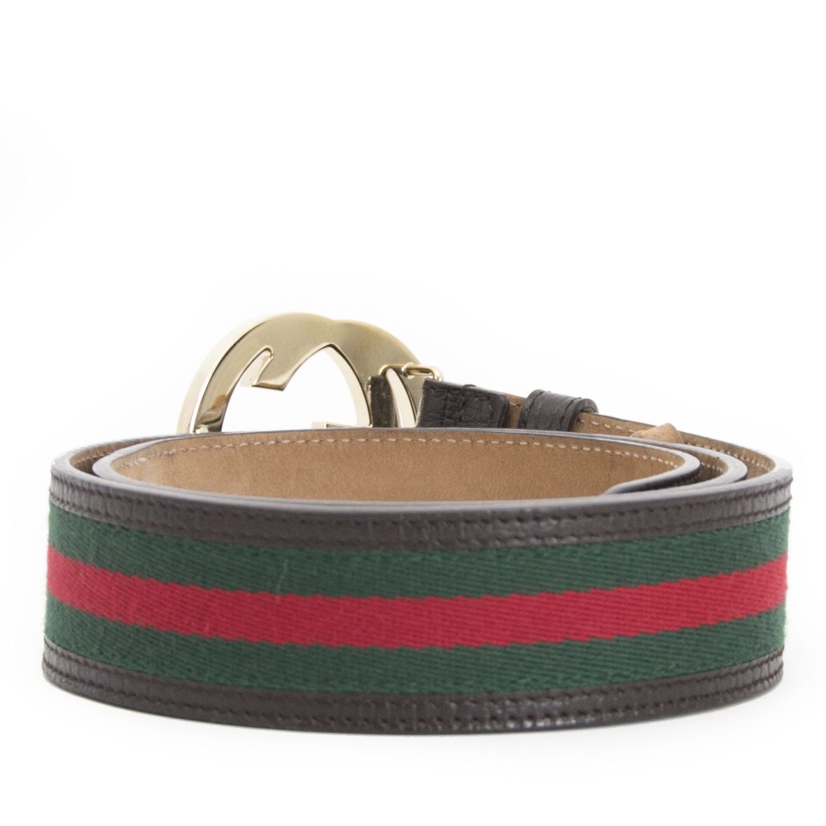 Are you looking for Gucci Red Green Belt - size 85
