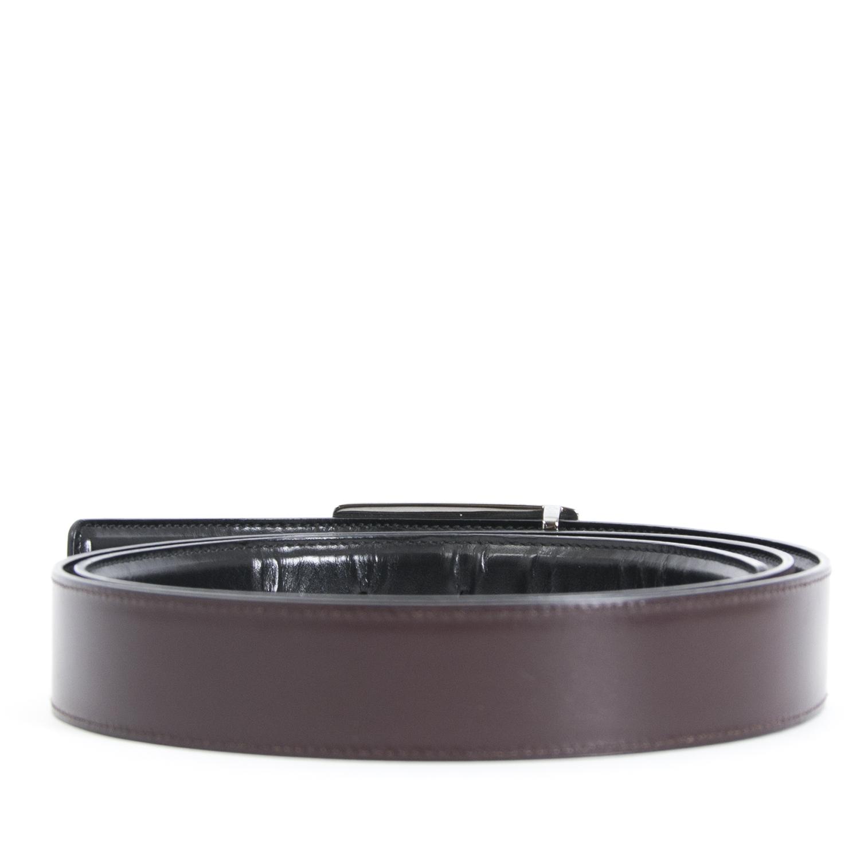 Achetez maintenant en ligne Gucci Brown Leather Belt - size 100 chez labellov.com