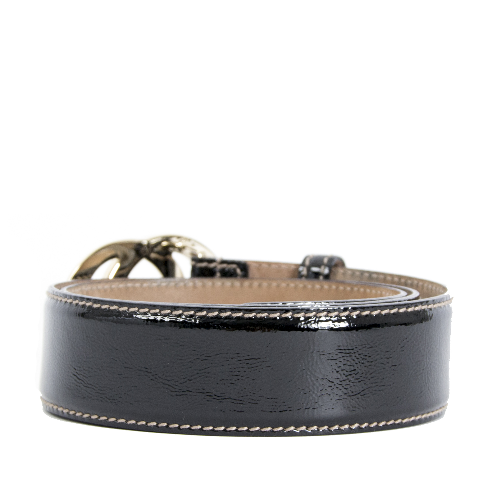 We buy and sell your authentic Gucci Black Patent Leather Belt